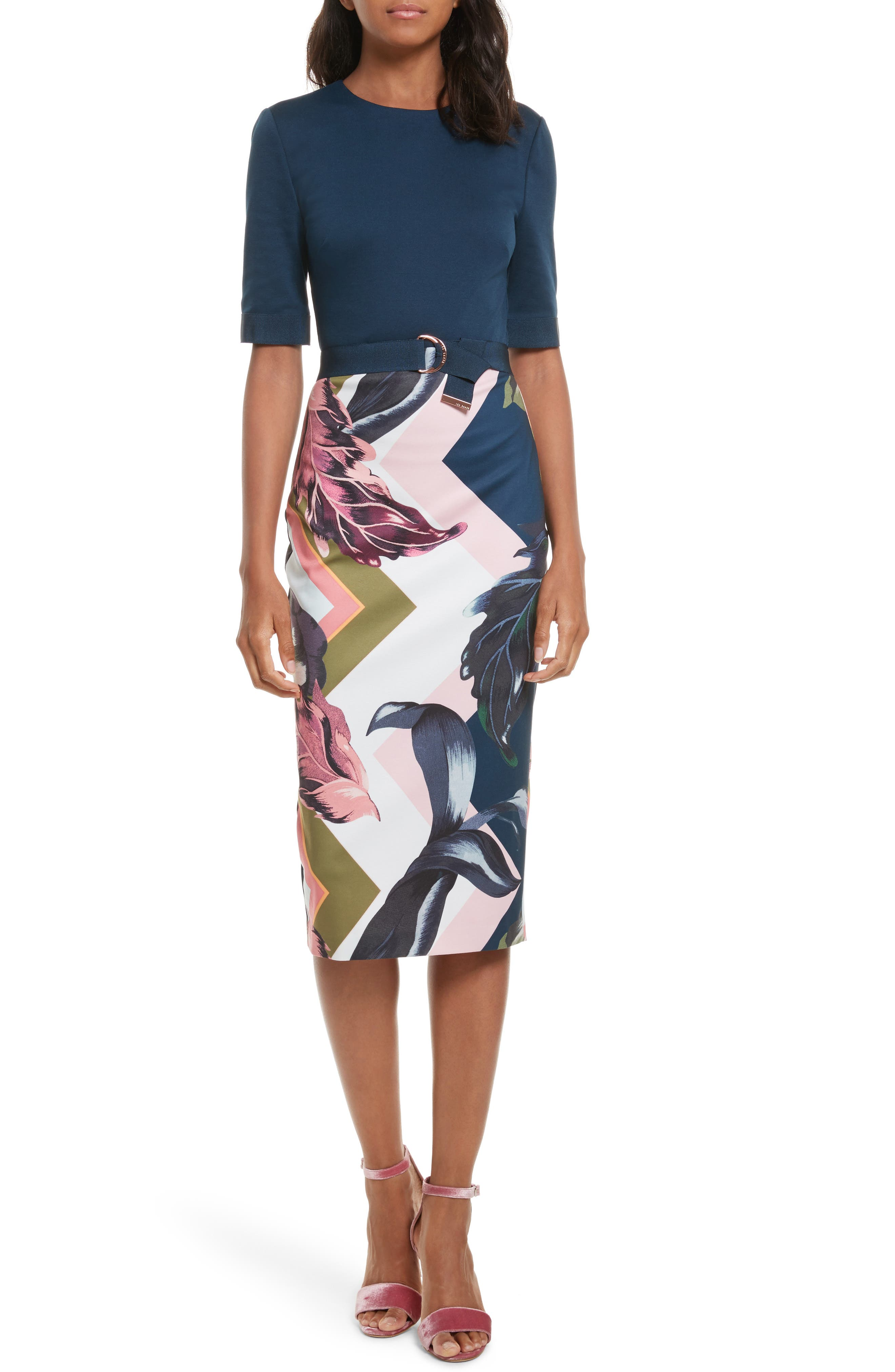 Ted Baker London Casiew Eden Body Con Dress