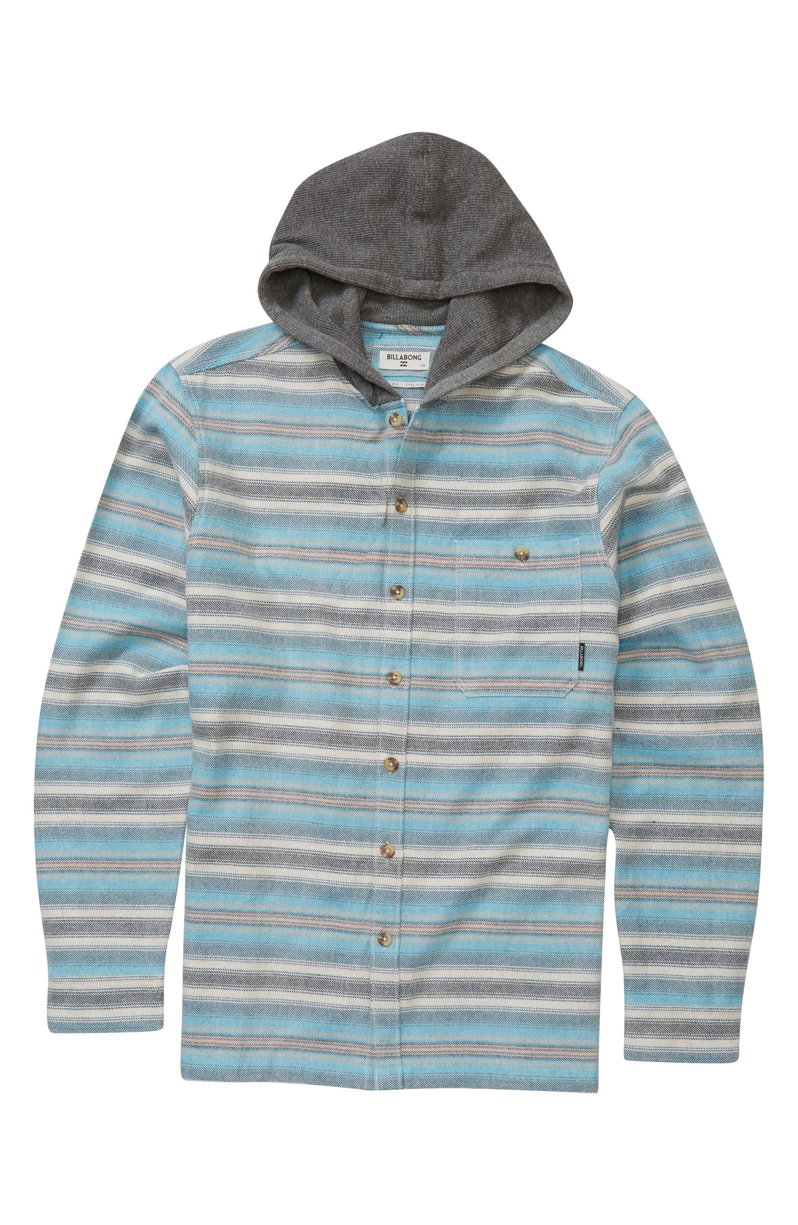 Baja Hooded Shirt,                         Main,                         color, Stone