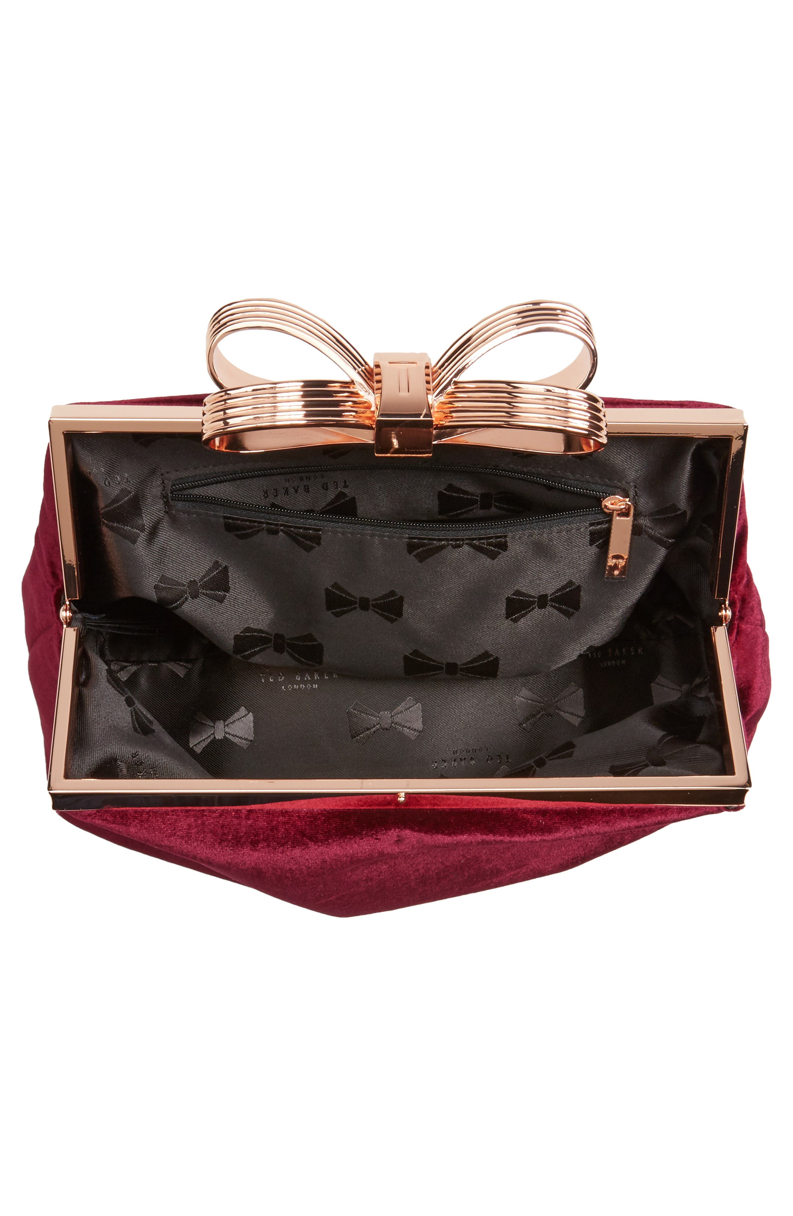 Alternate Image 3  - Ted Baker London Cena Bow Velvet Clutch