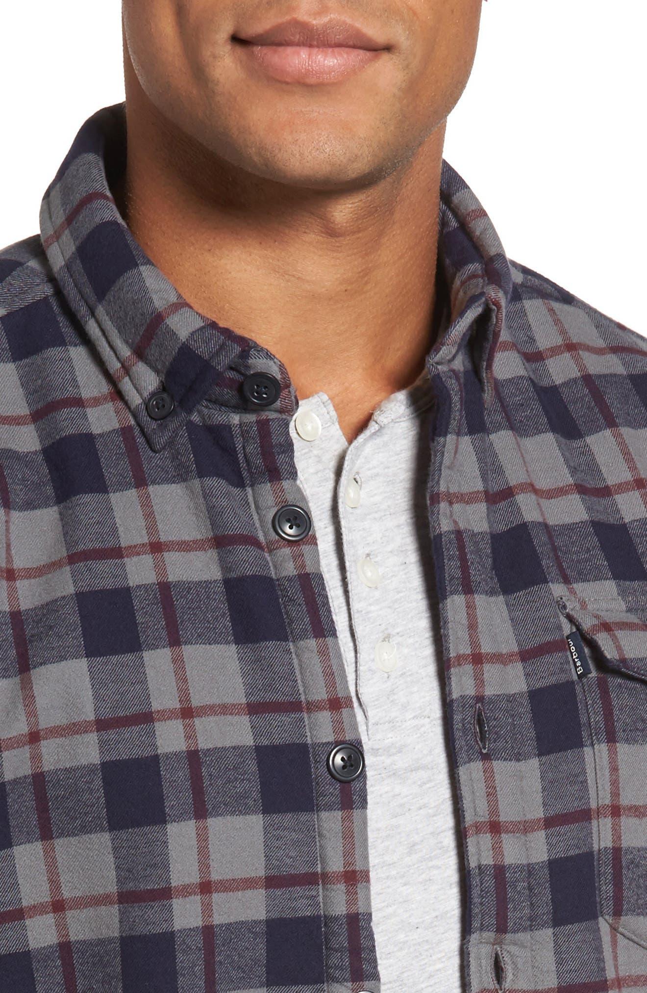 Hamilton Regular Fit Faux Fur Lined Shirt Jacket,                             Alternate thumbnail 4, color,                             Grey