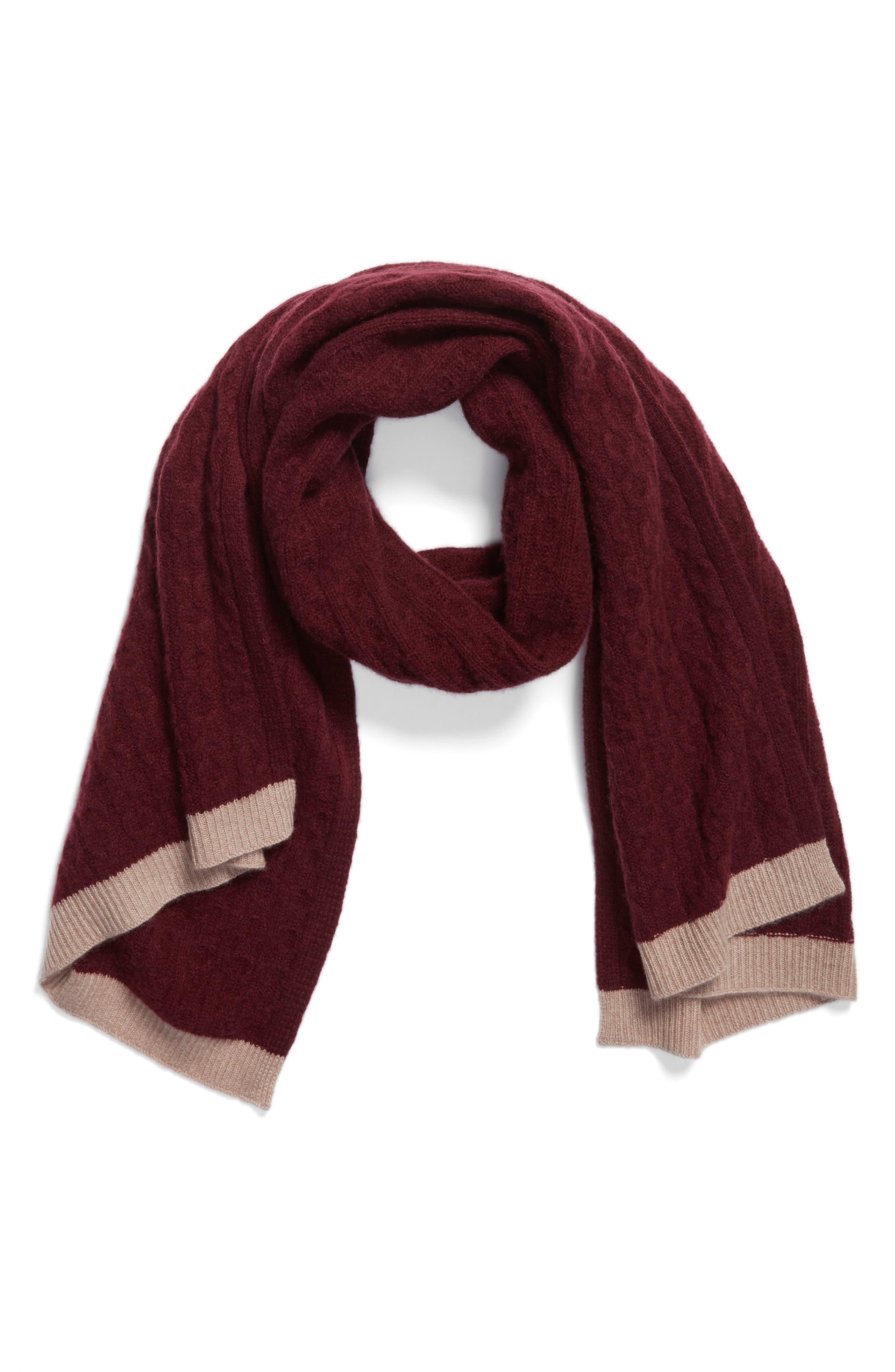 Alternate Image 3  - Halogen® Cable Knit Cashmere Scarf