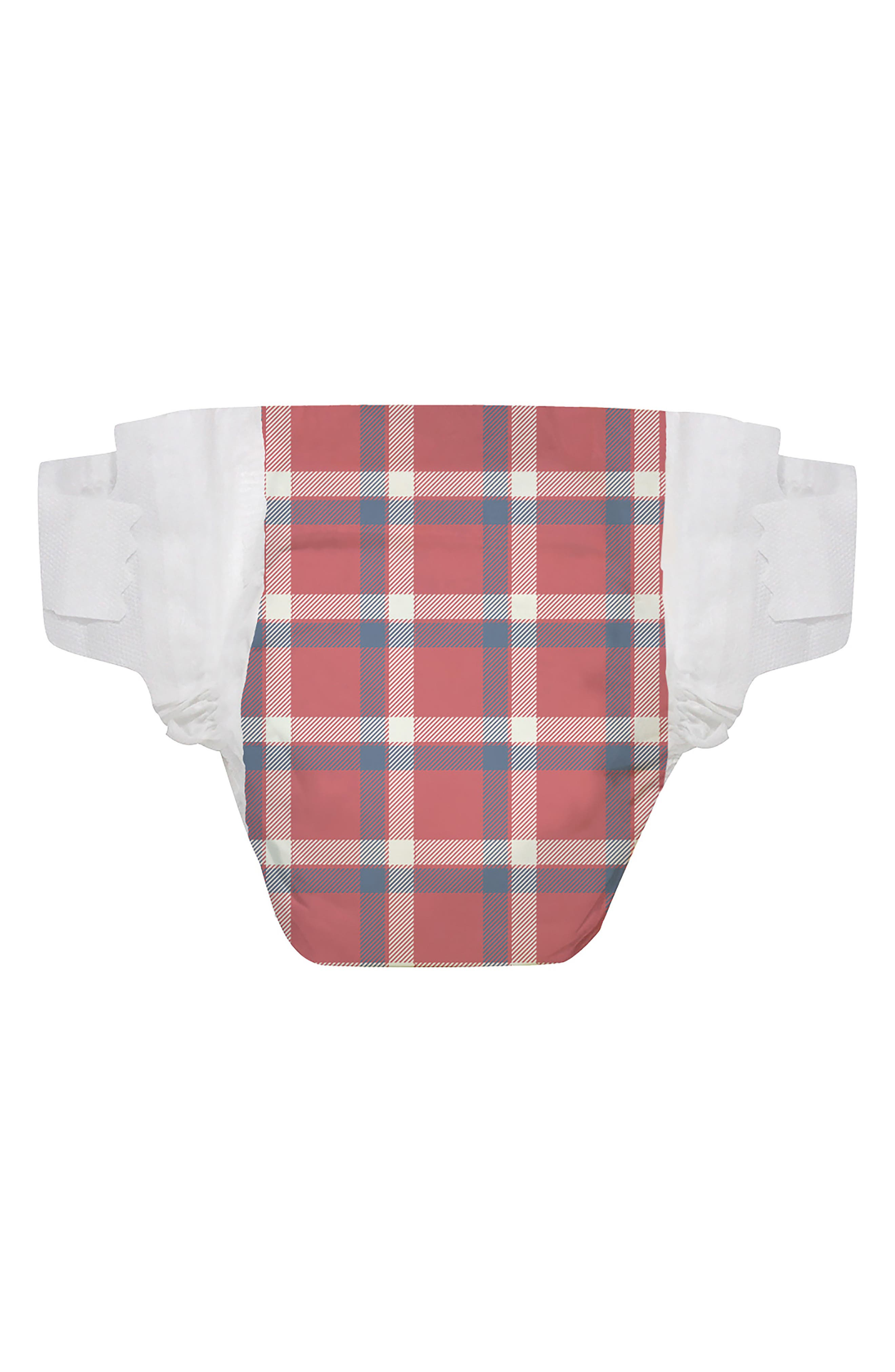 x THE GREAT. The Camper Plaid Diapers,                             Main thumbnail 1, color,                             Camper Plaid
