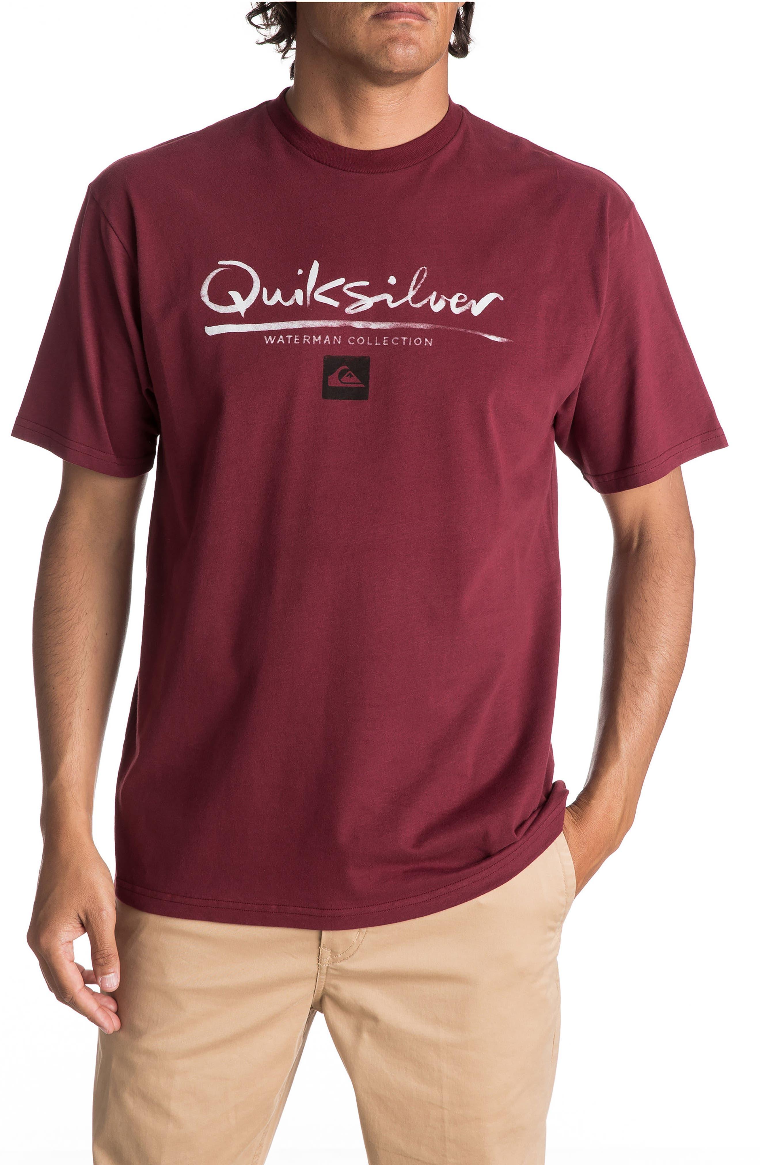 Wordmark T-Shirt,                         Main,                         color, Cabernet