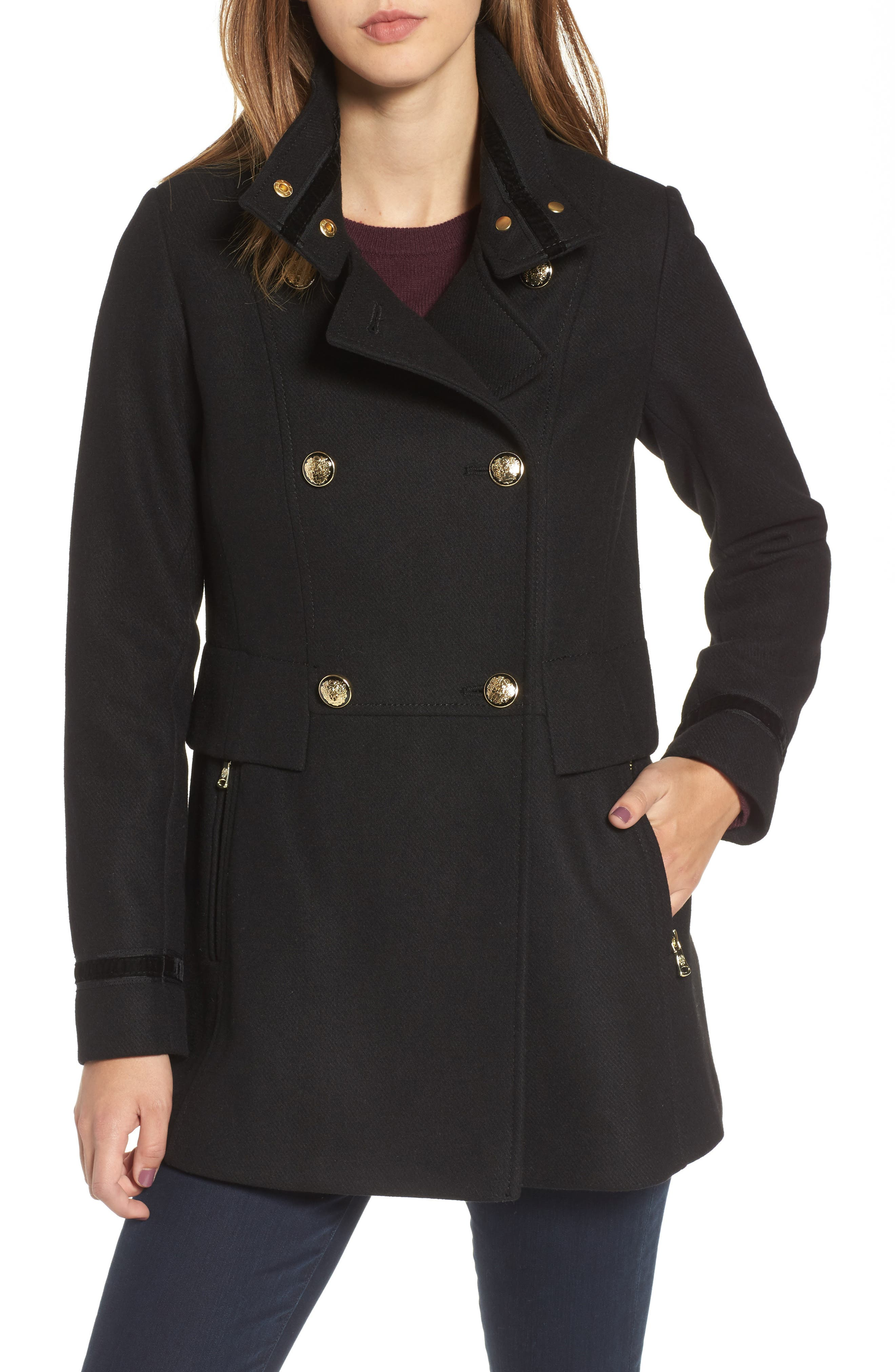 Alternate Image 4  - Vince Camuto Wool Blend Military Coat