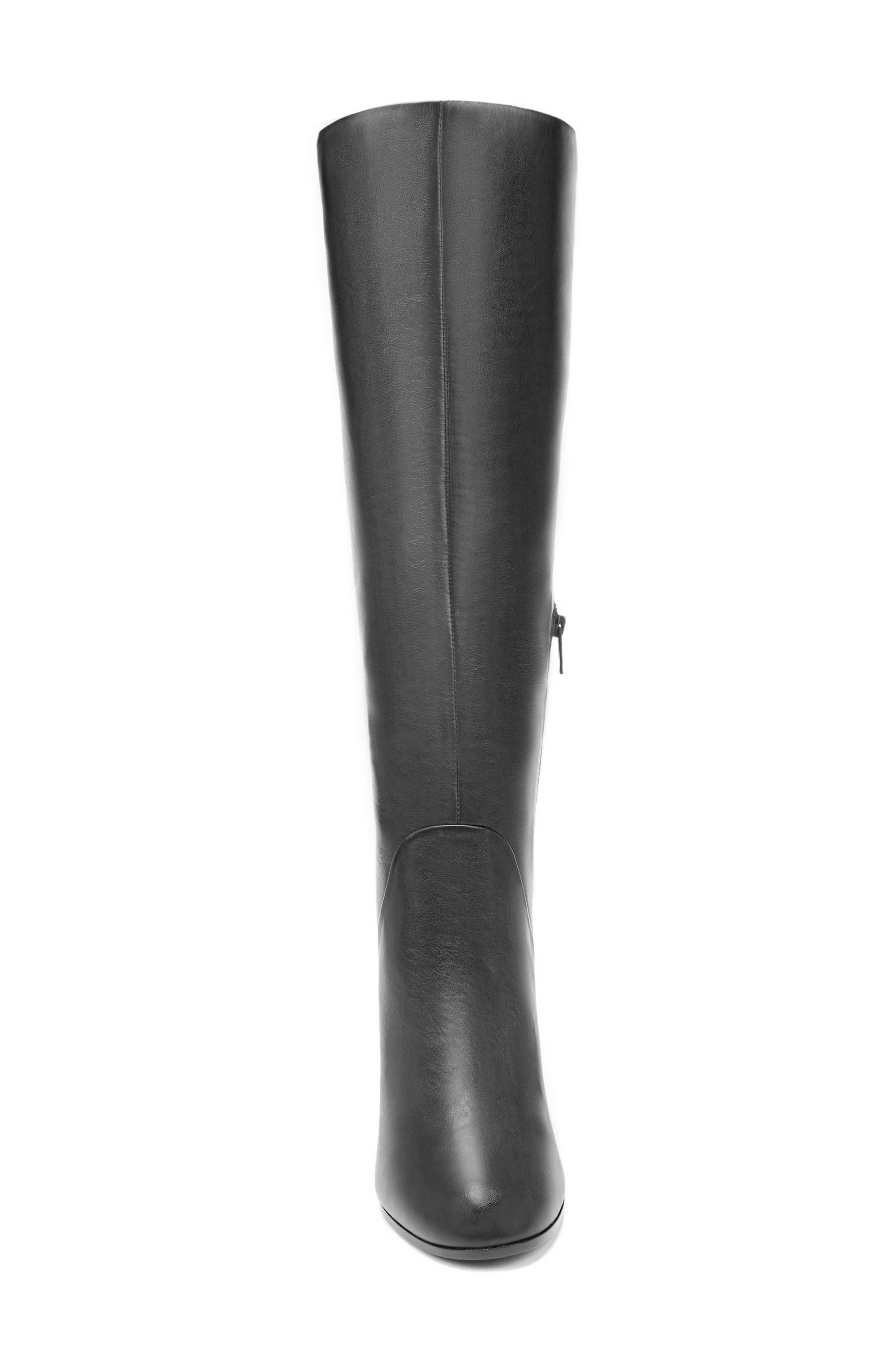 Soho Knee High Boot,                             Alternate thumbnail 4, color,                             Onyx Leather