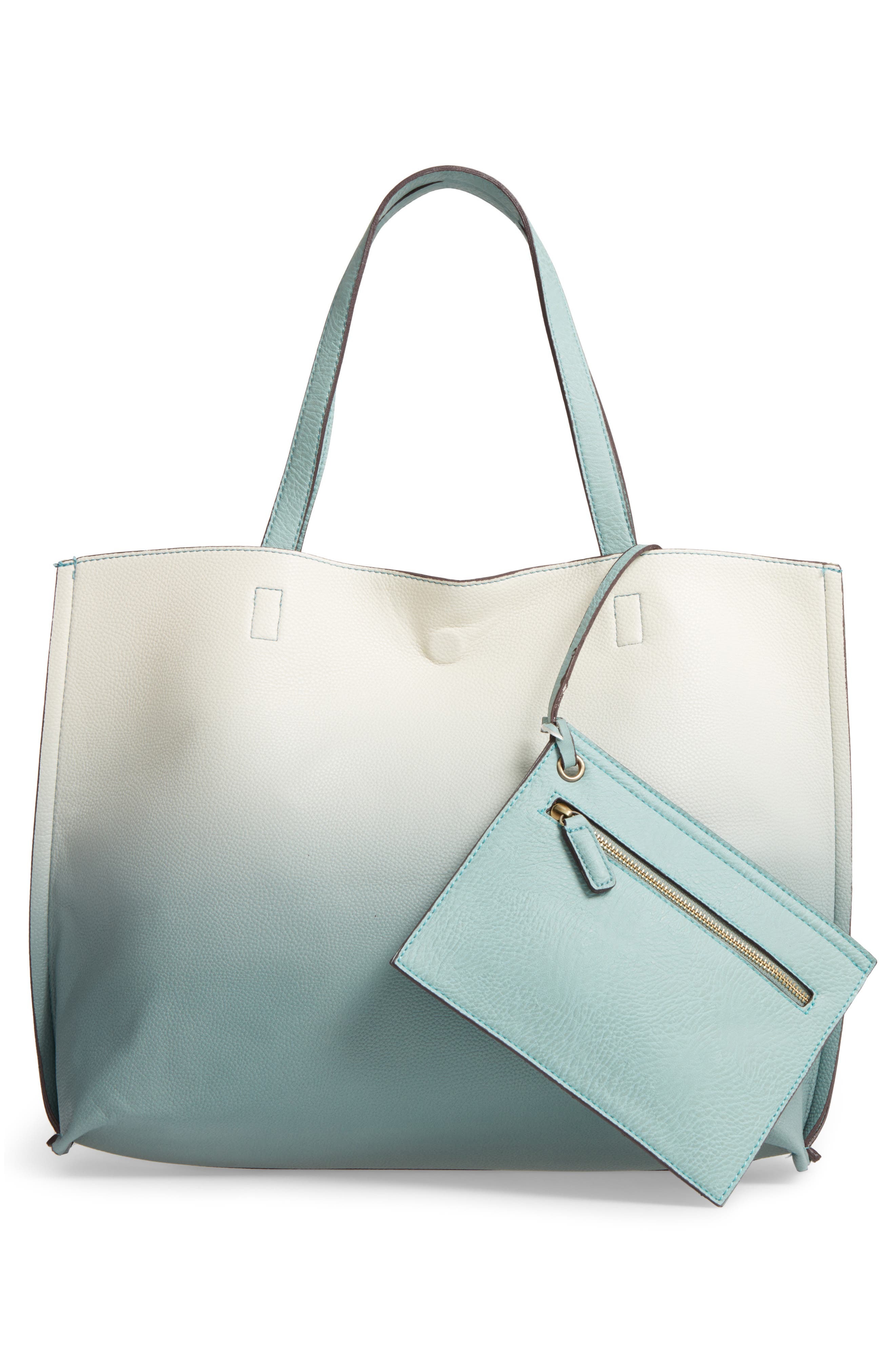 Alternate Image 2  - Street Level Reversible Faux Leather Tote