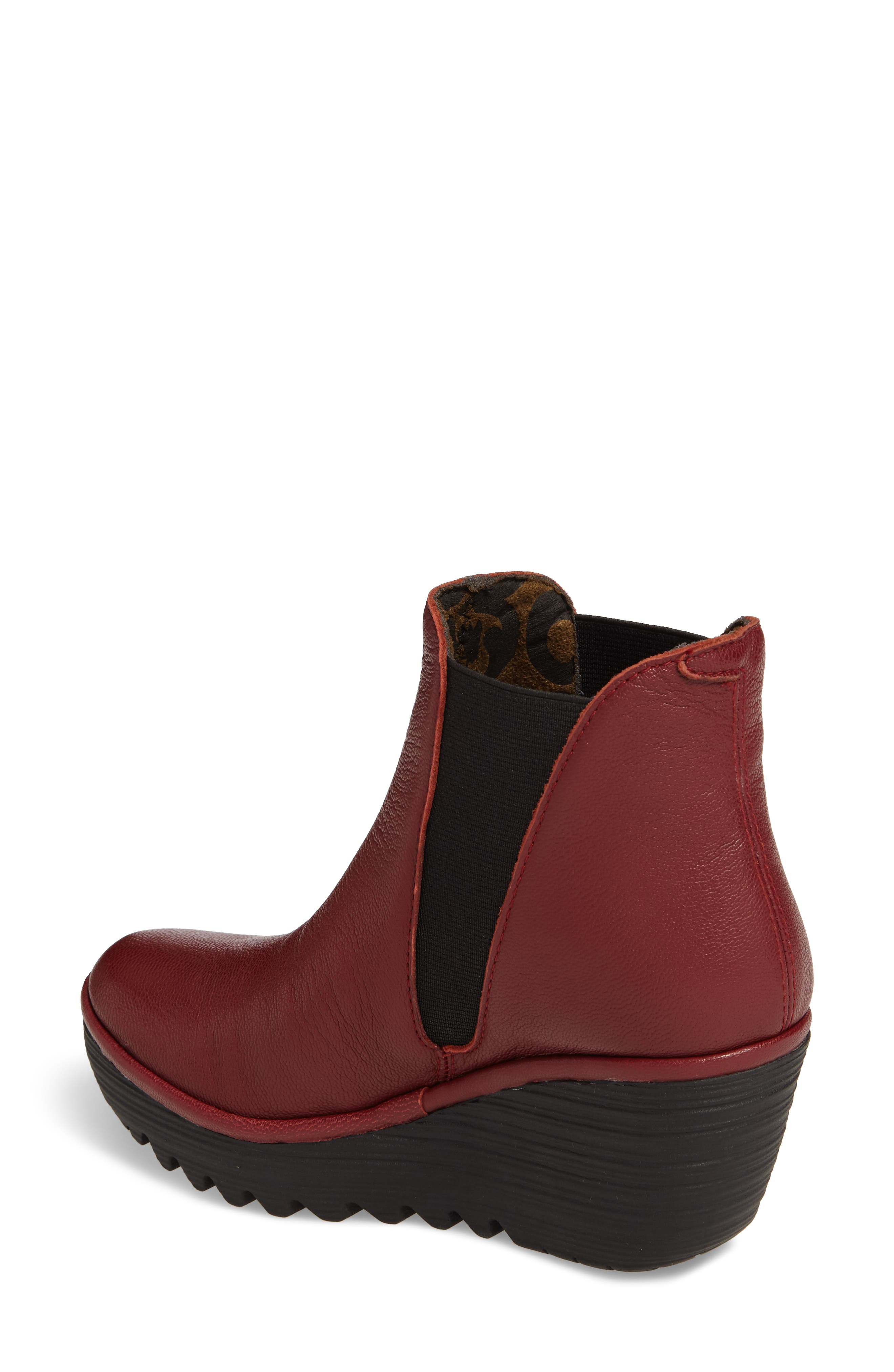 Yoss Wedge Bootie,                             Alternate thumbnail 2, color,                             Cordoba Red Leather