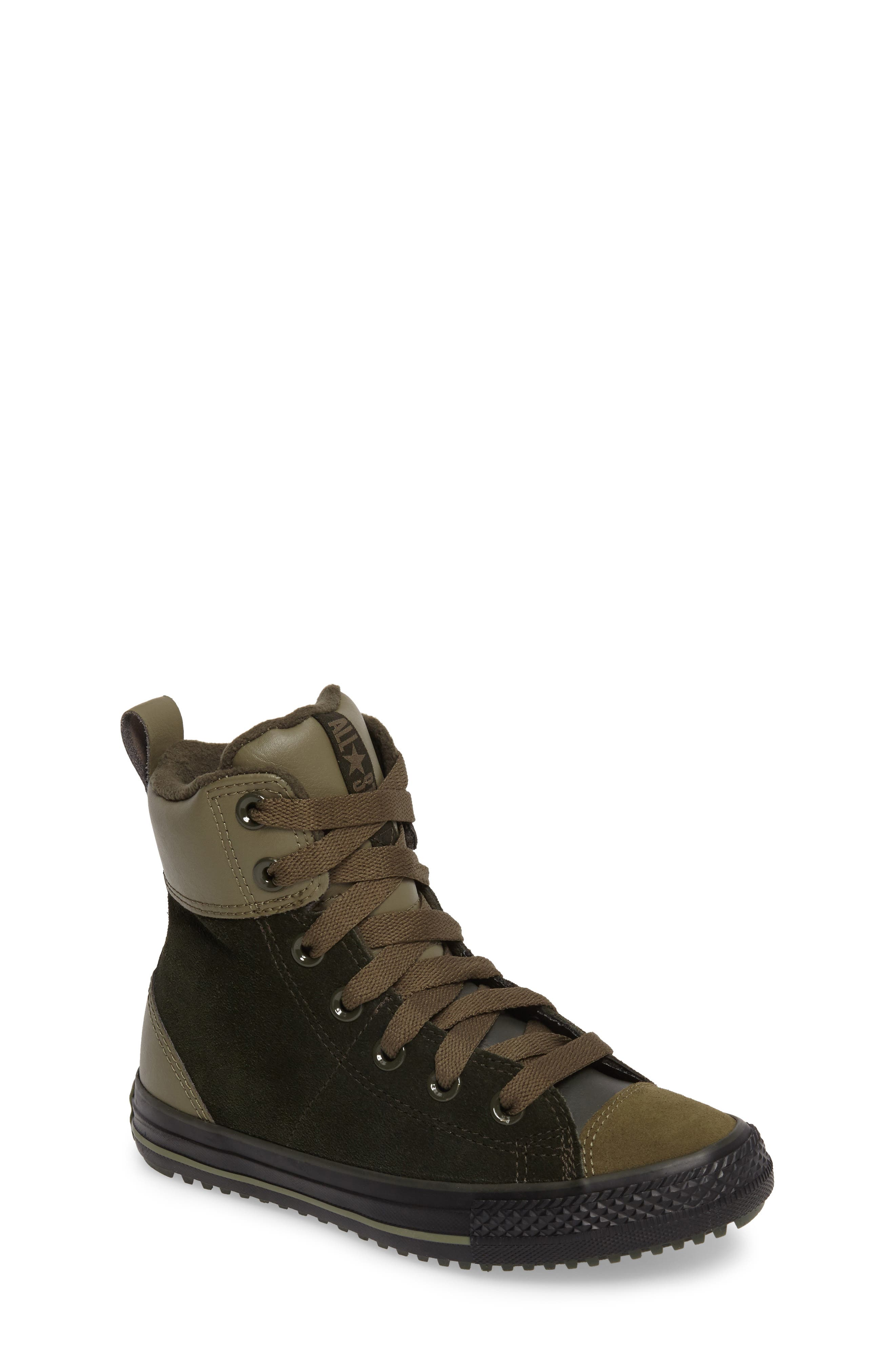 Chuck Taylor<sup>®</sup> All Star<sup>®</sup> Asphalt Sneaker Boot,                         Main,                         color, Sequoia