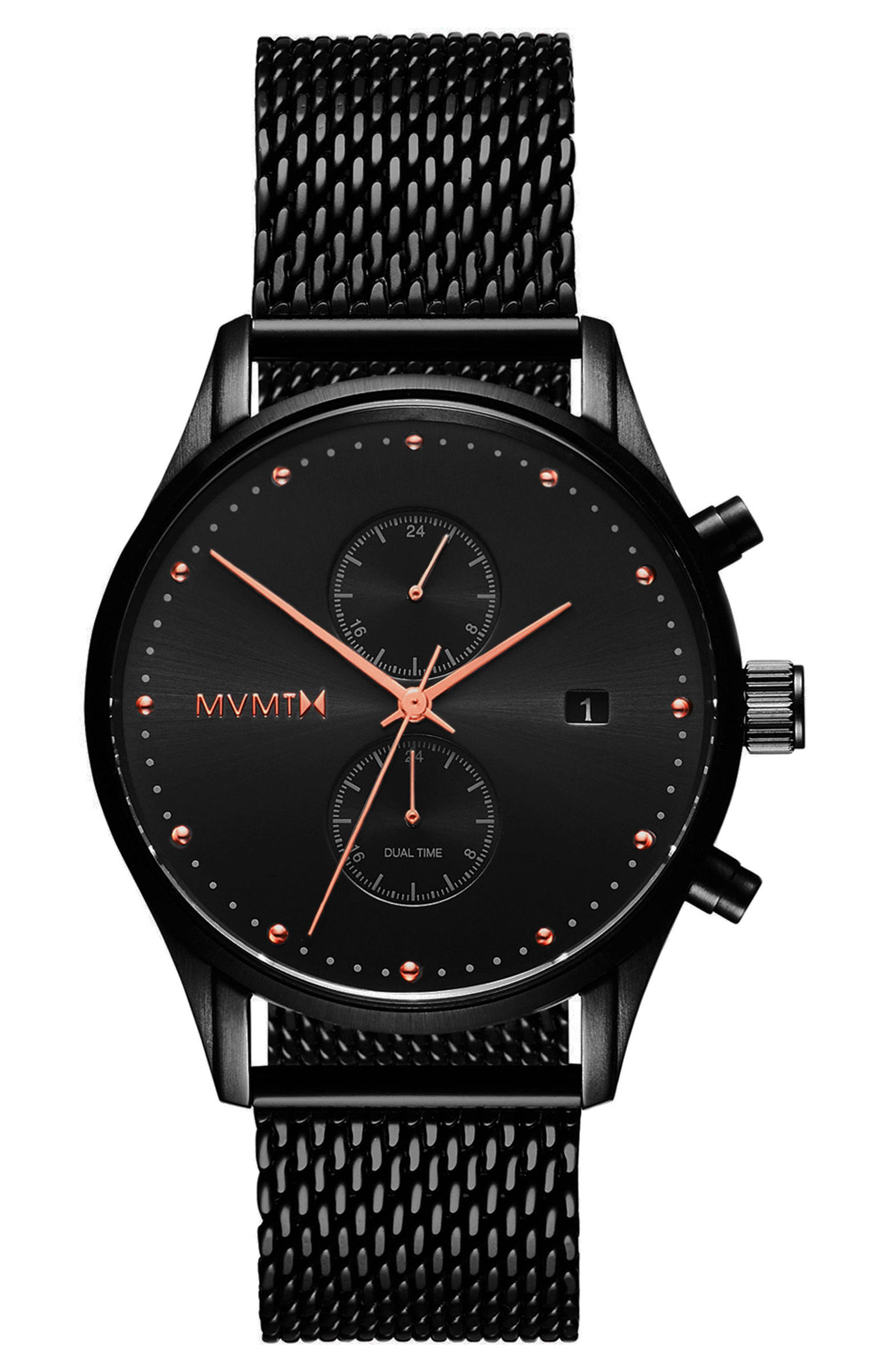 MVMT Voyager Chronograph Mesh Strap Watch, 42mm