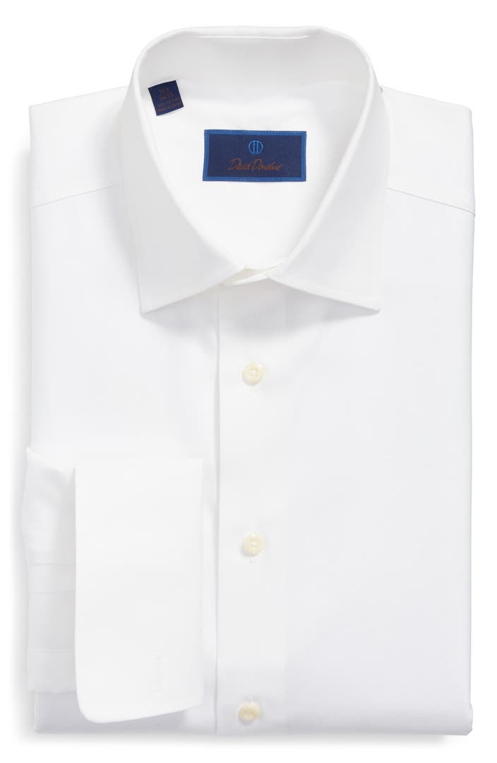 David donahue regular fit texture french cuff dress shirt for David donahue french cuff shirts