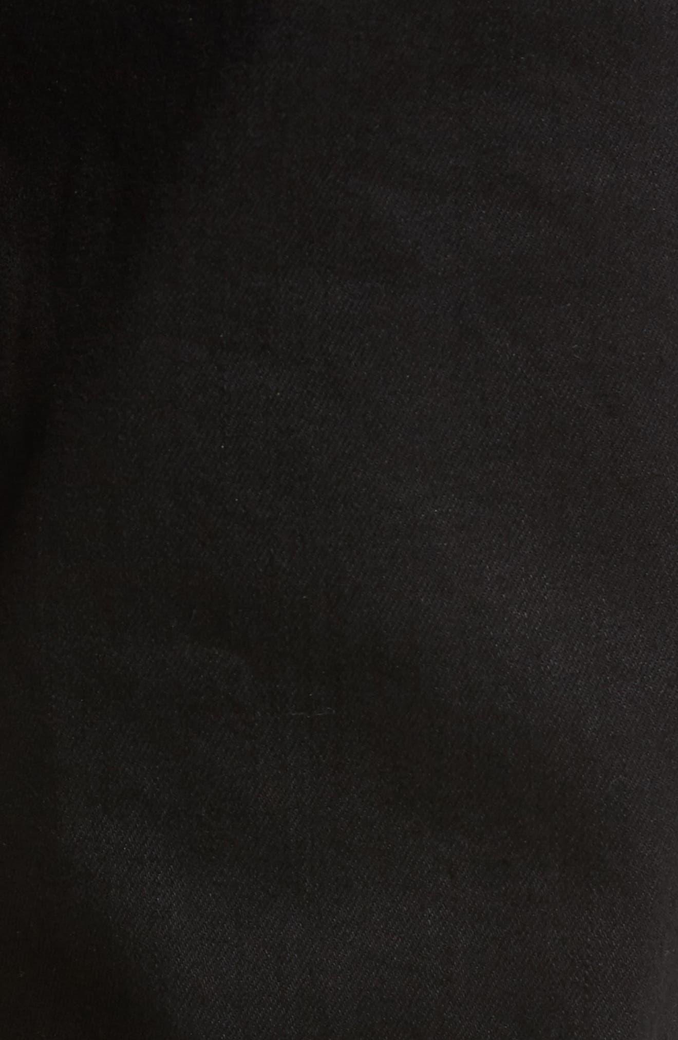 Slim Fit Destroyed Jeans,                             Alternate thumbnail 5, color,                             Black Rock
