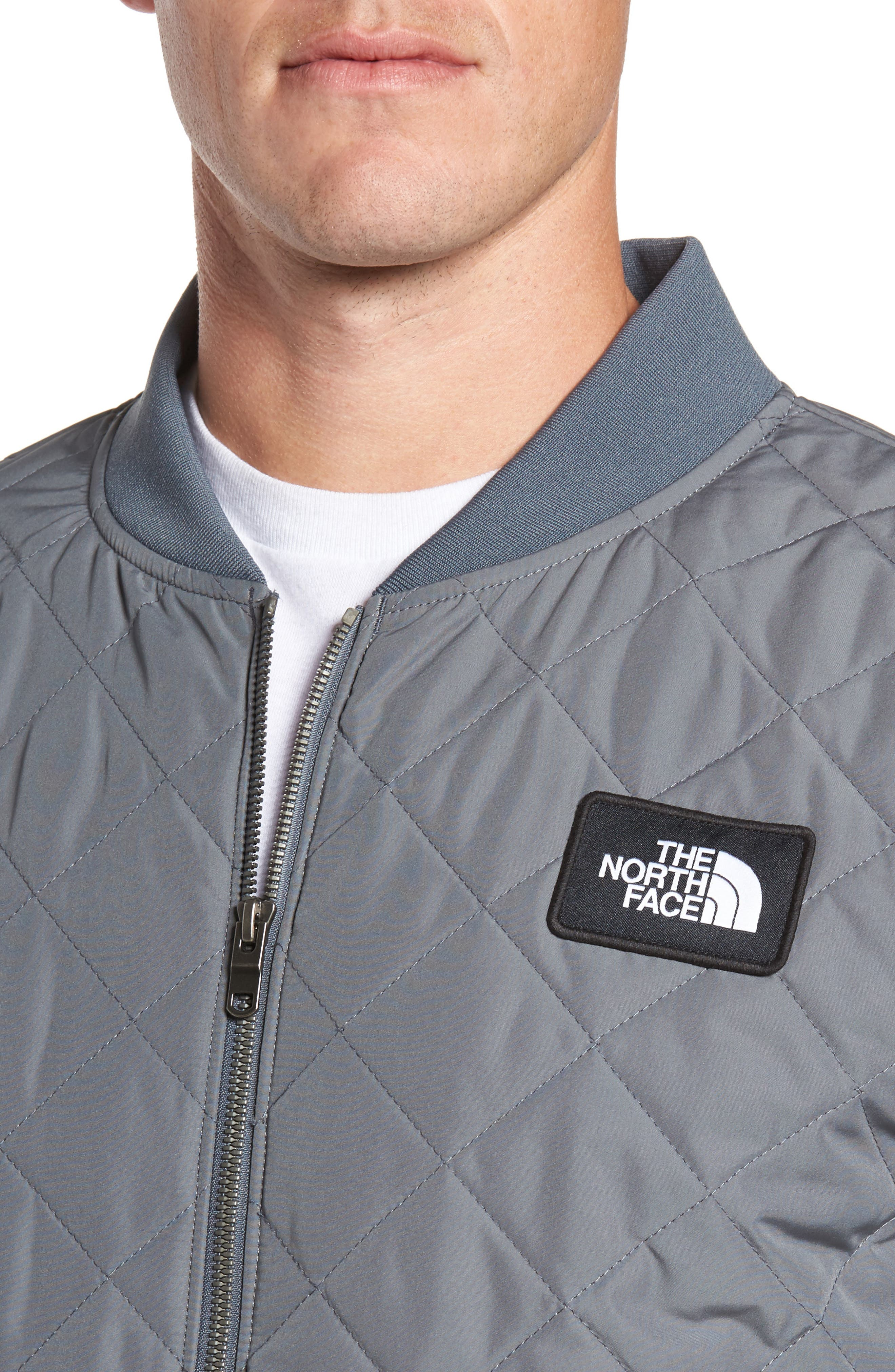 Distributor Quilted Bomber Jacket,                             Alternate thumbnail 4, color,                             Grey
