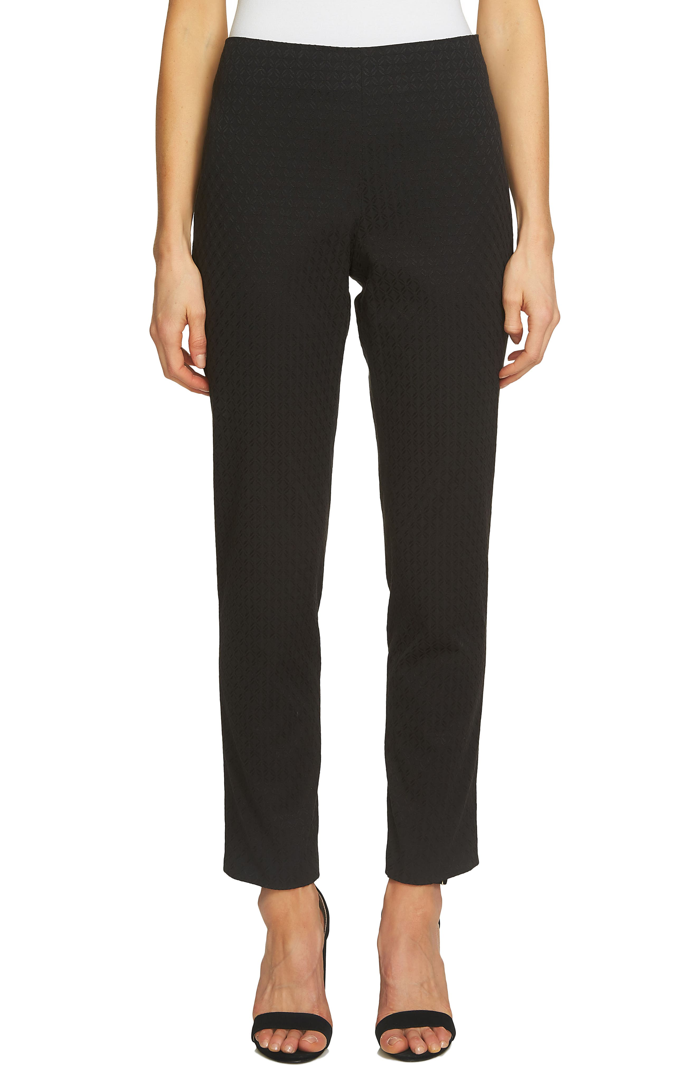 Alternate Image 1 Selected - CeCe Diamond Jacquard Pants