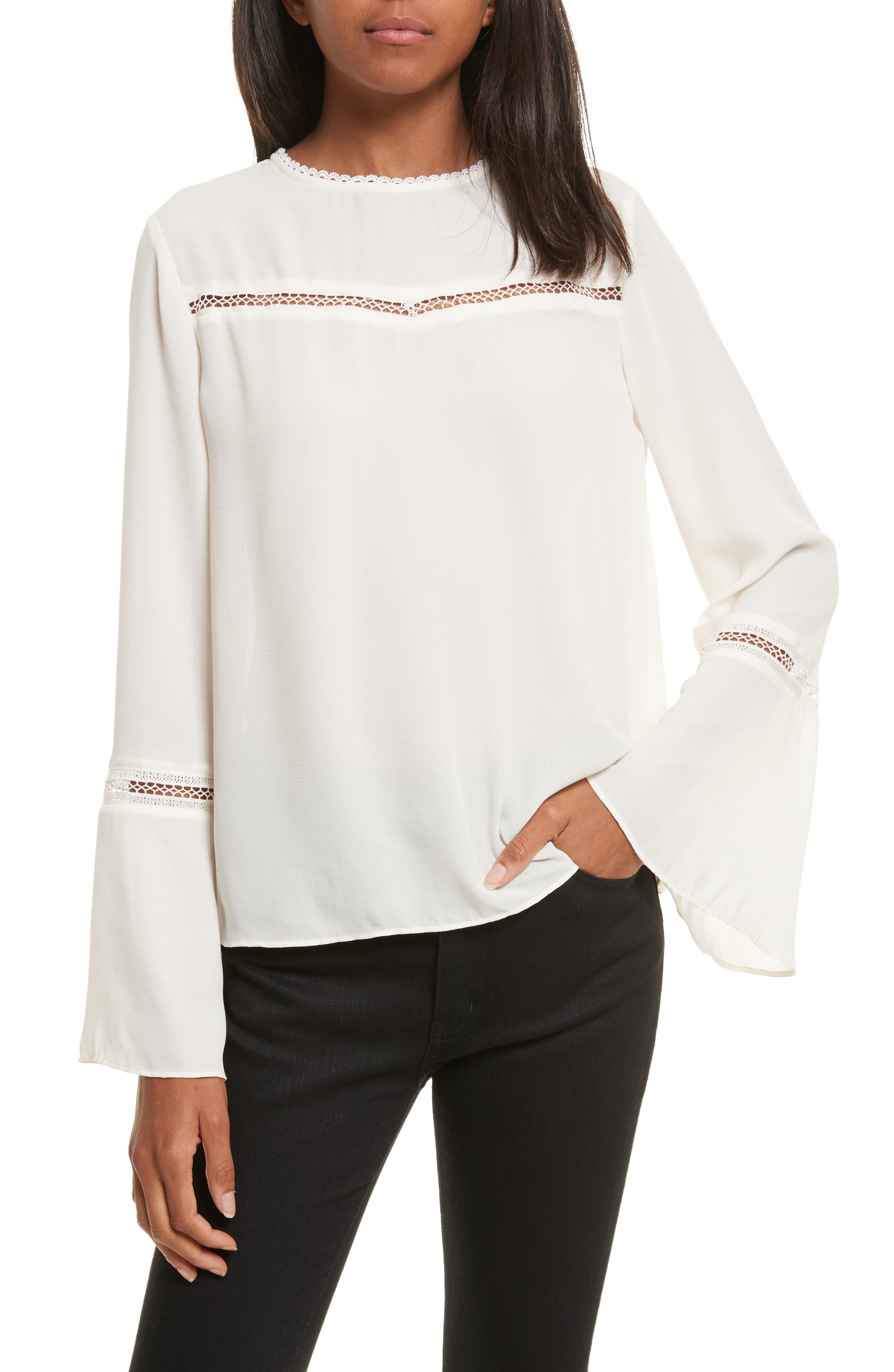 Chava Bell Sleeve Top,                         Main,                         color, Pristine