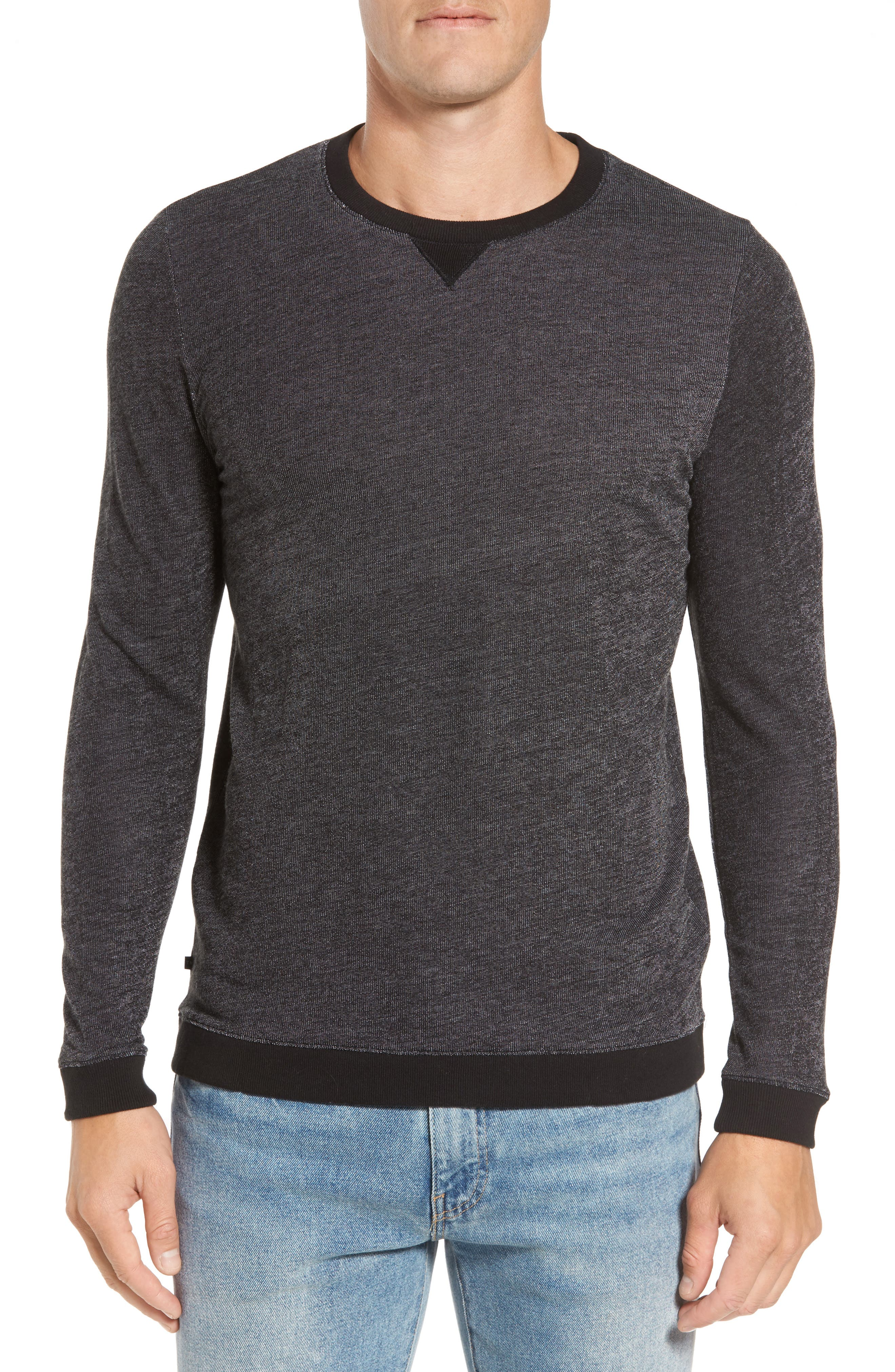 Steffes Pullover,                         Main,                         color, Heather Black