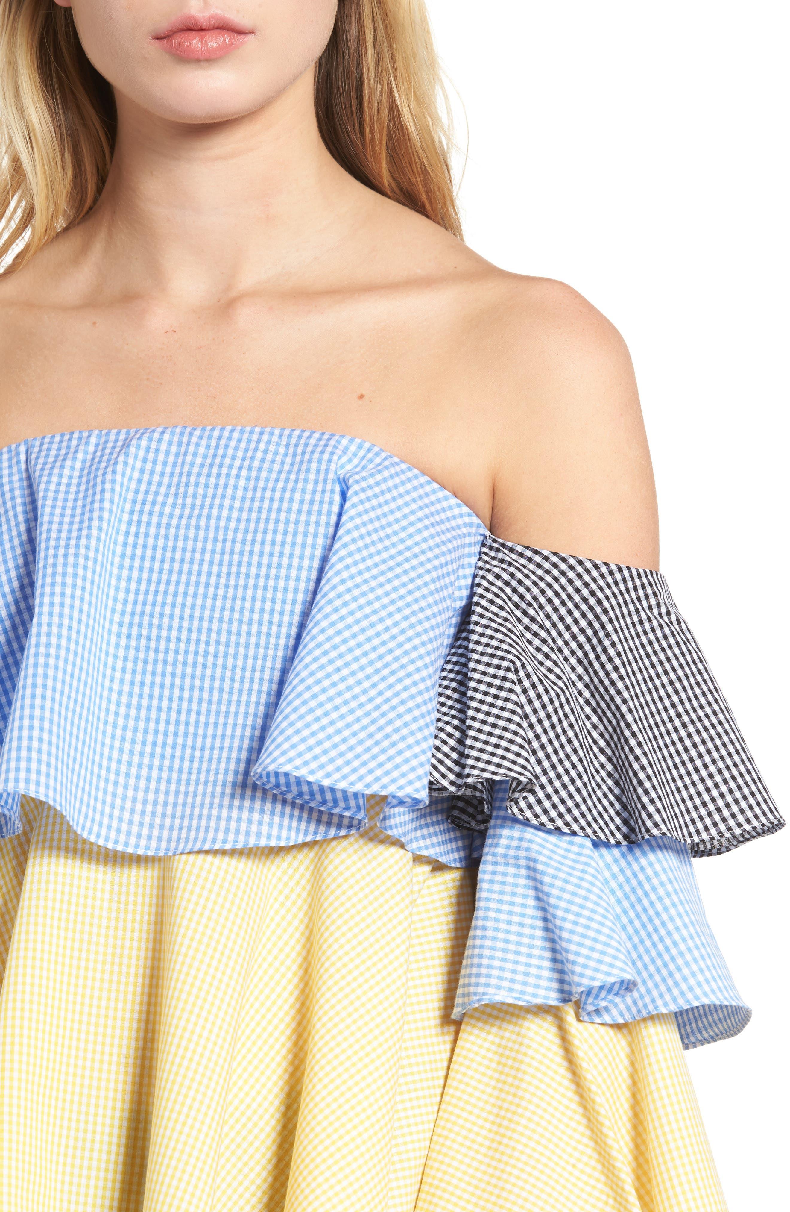 Alternate Image 4  - StyleKeepers The Virgo Ruffle Top
