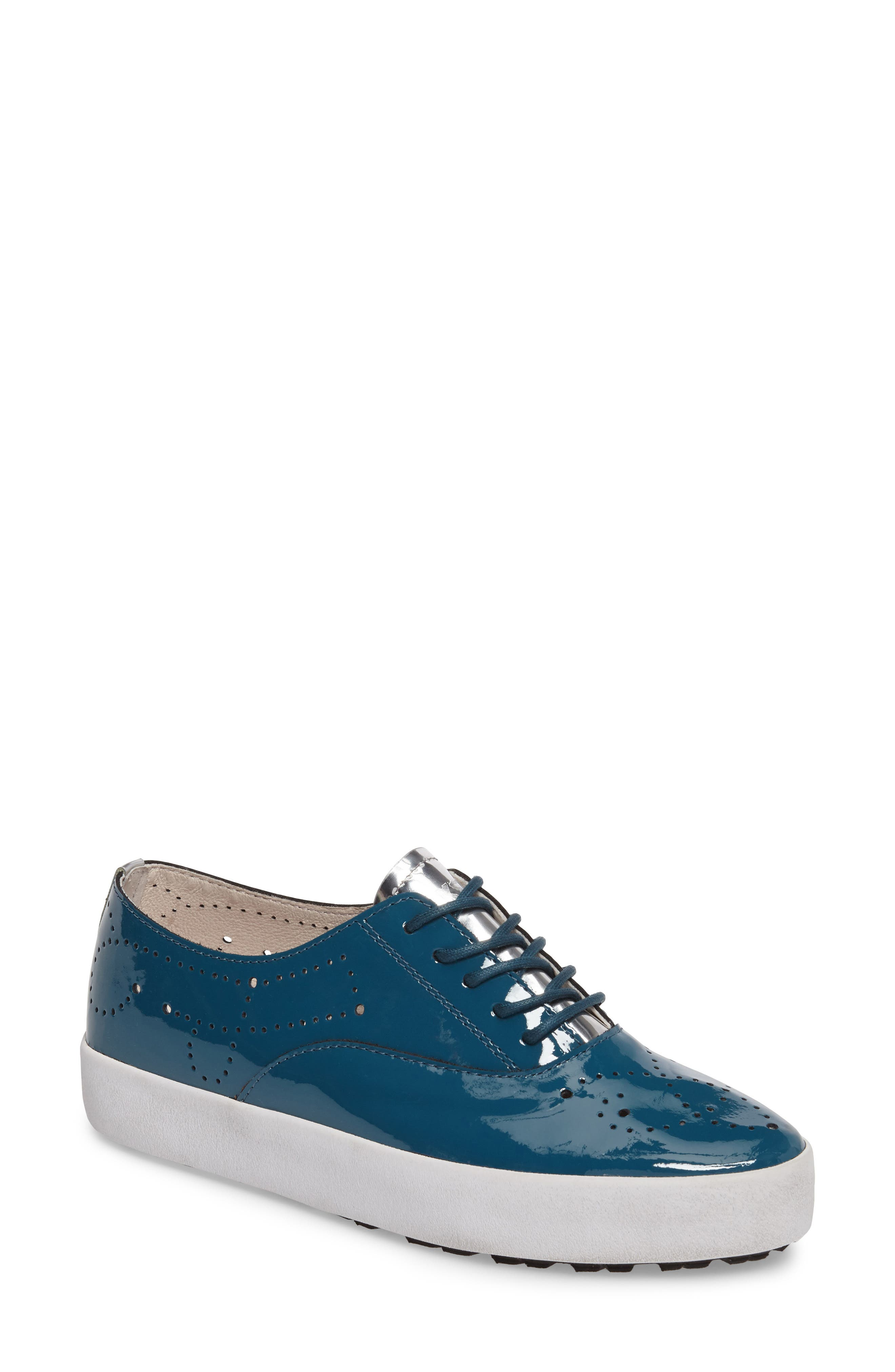 NL41 Sneaker,                         Main,                         color, Turquoise Patent Leather