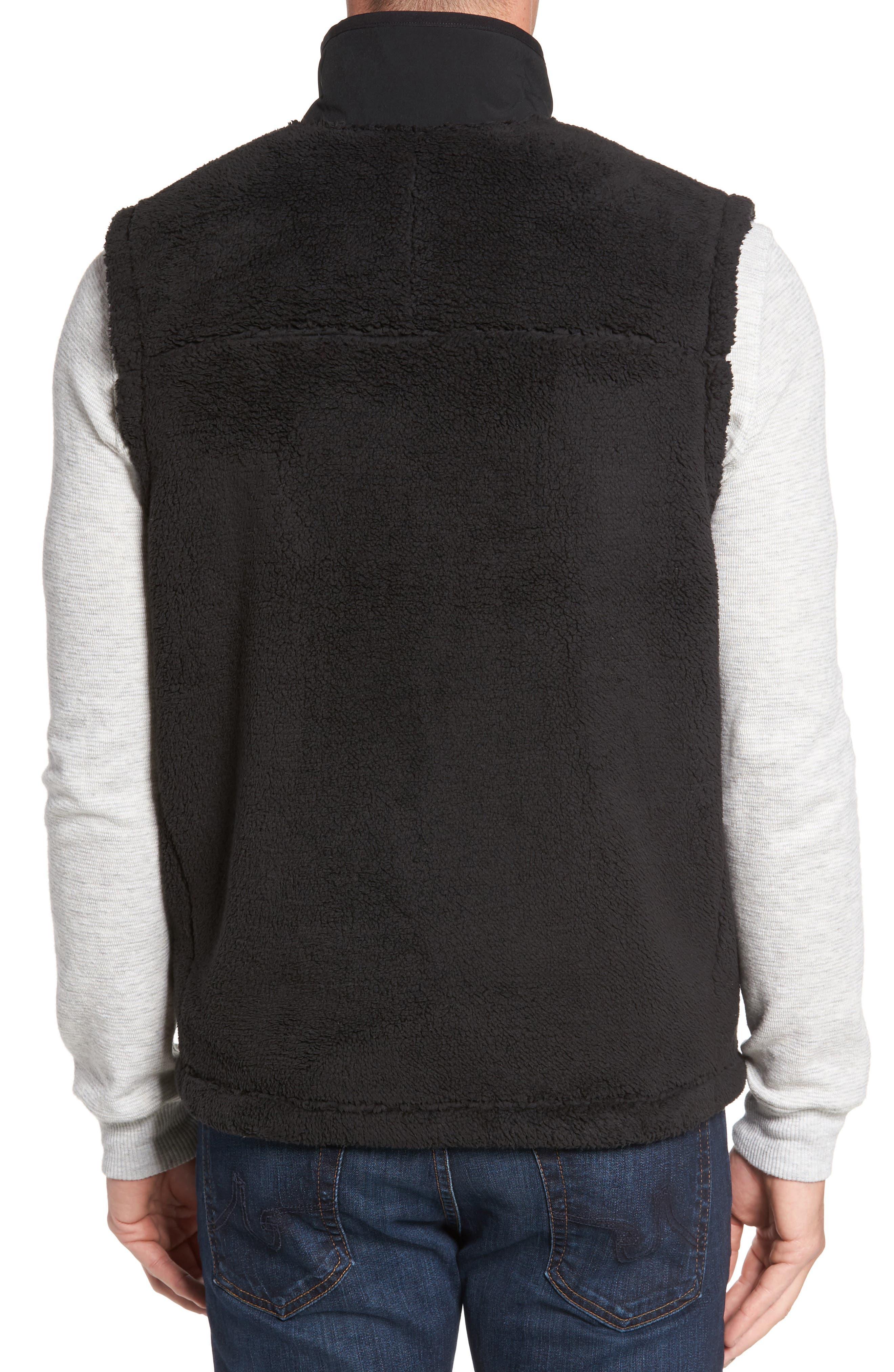 Campshire Fleece Vest,                             Alternate thumbnail 2, color,                             Black