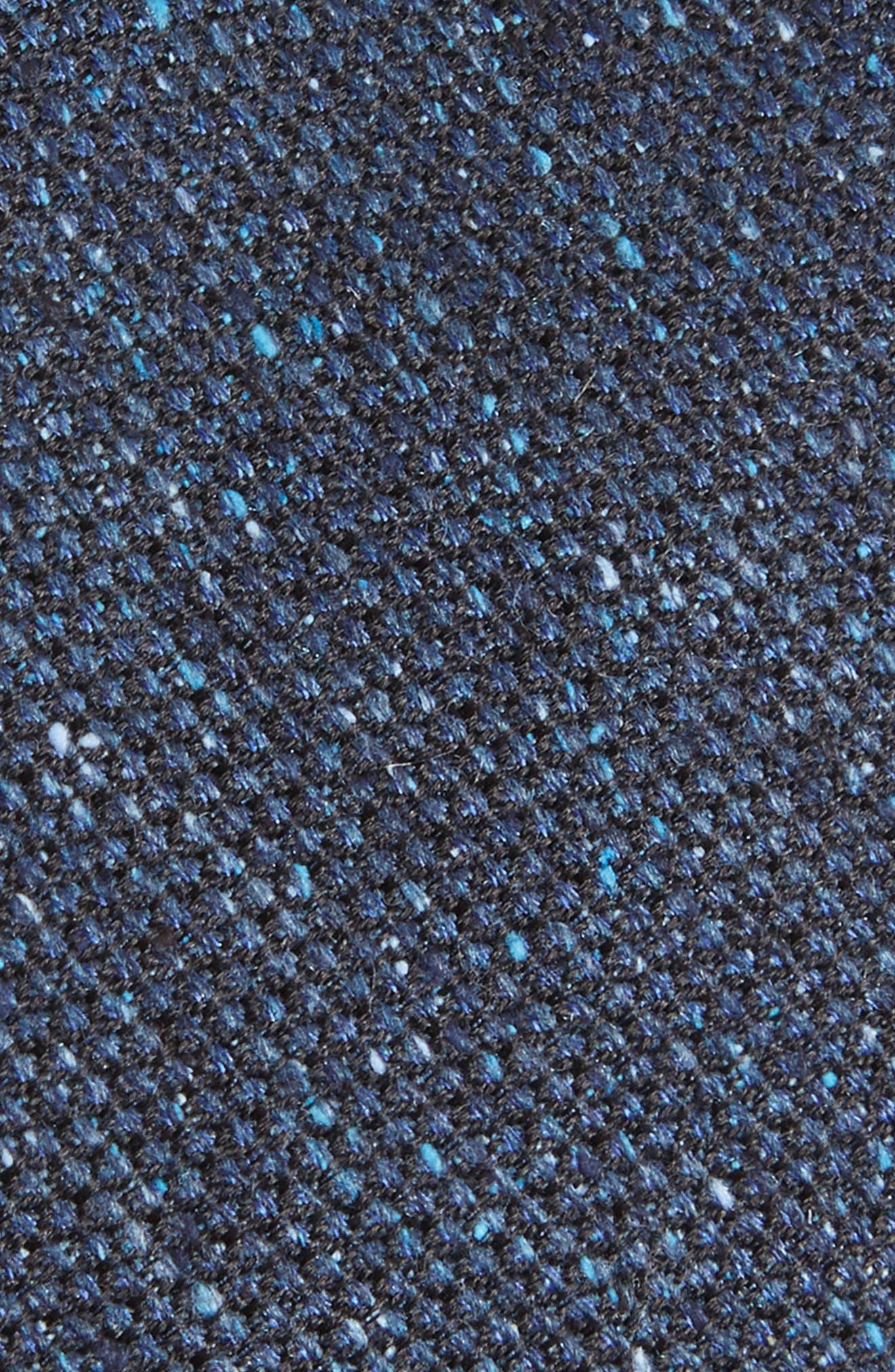 Solid Silk Tweed Tie,                             Alternate thumbnail 2, color,                             Tweed Blue
