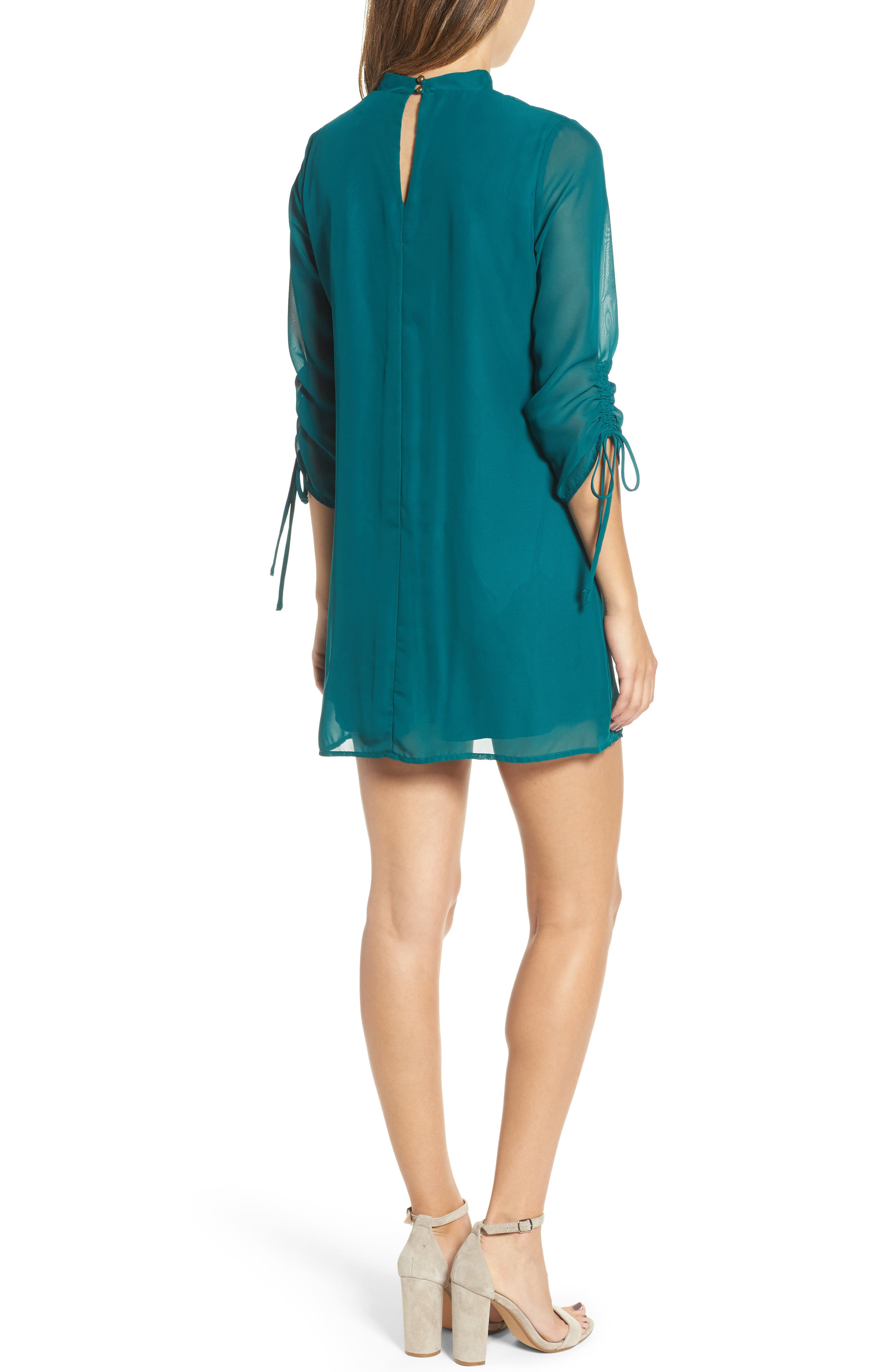 Gigi Choker Shift Dress,                             Alternate thumbnail 2, color,                             Light Jade