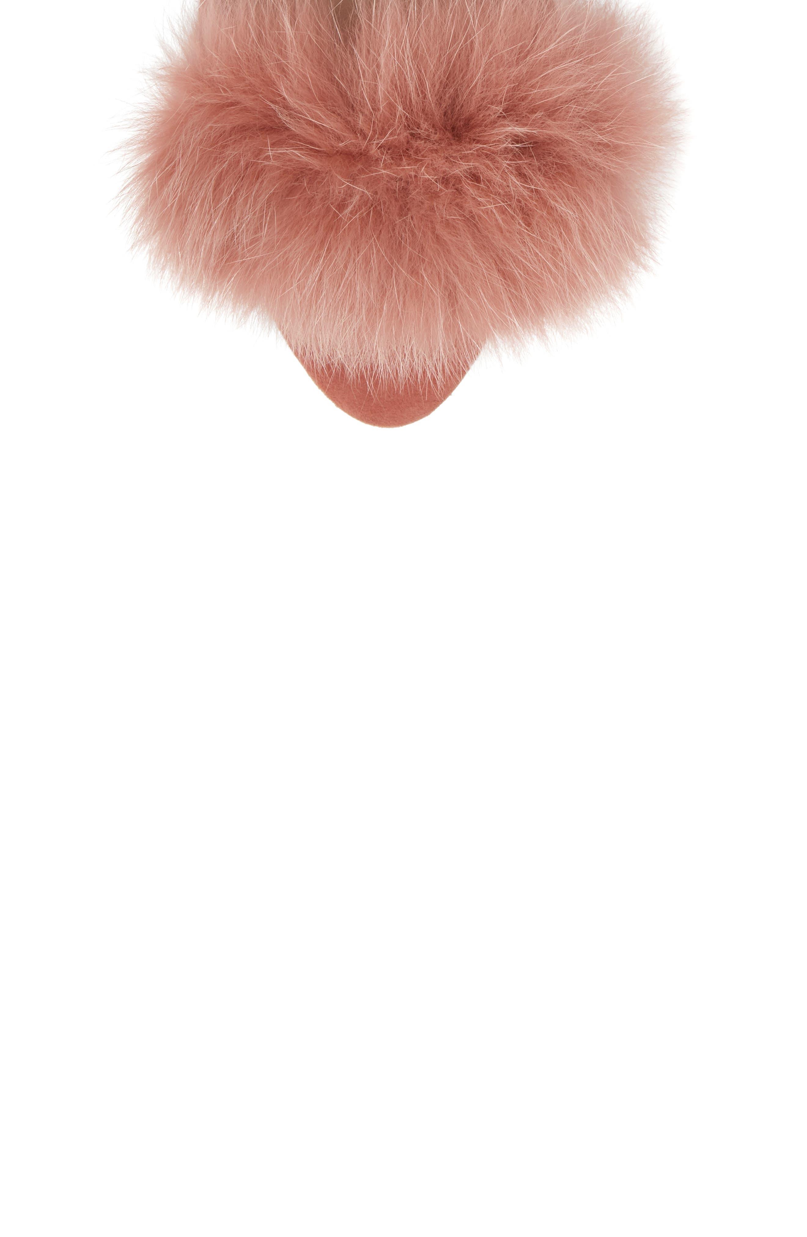 Alternate Image 5  - Loeffler Randall Nicky Genuine Fox Fur Ankle Wrap Sandal (Women)