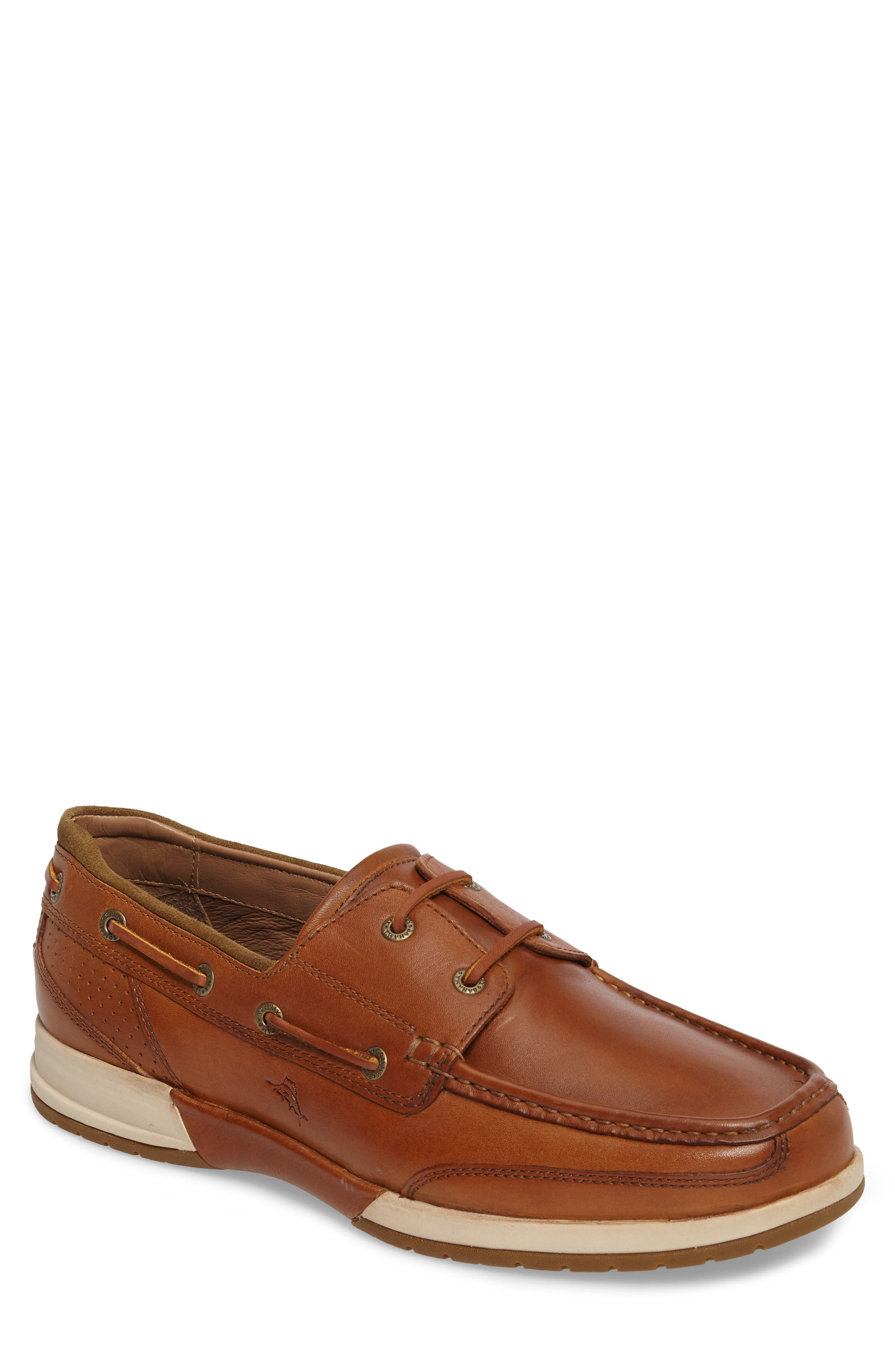 Ashore Thing Boat Shoe,                         Main,                         color, Tan Leather