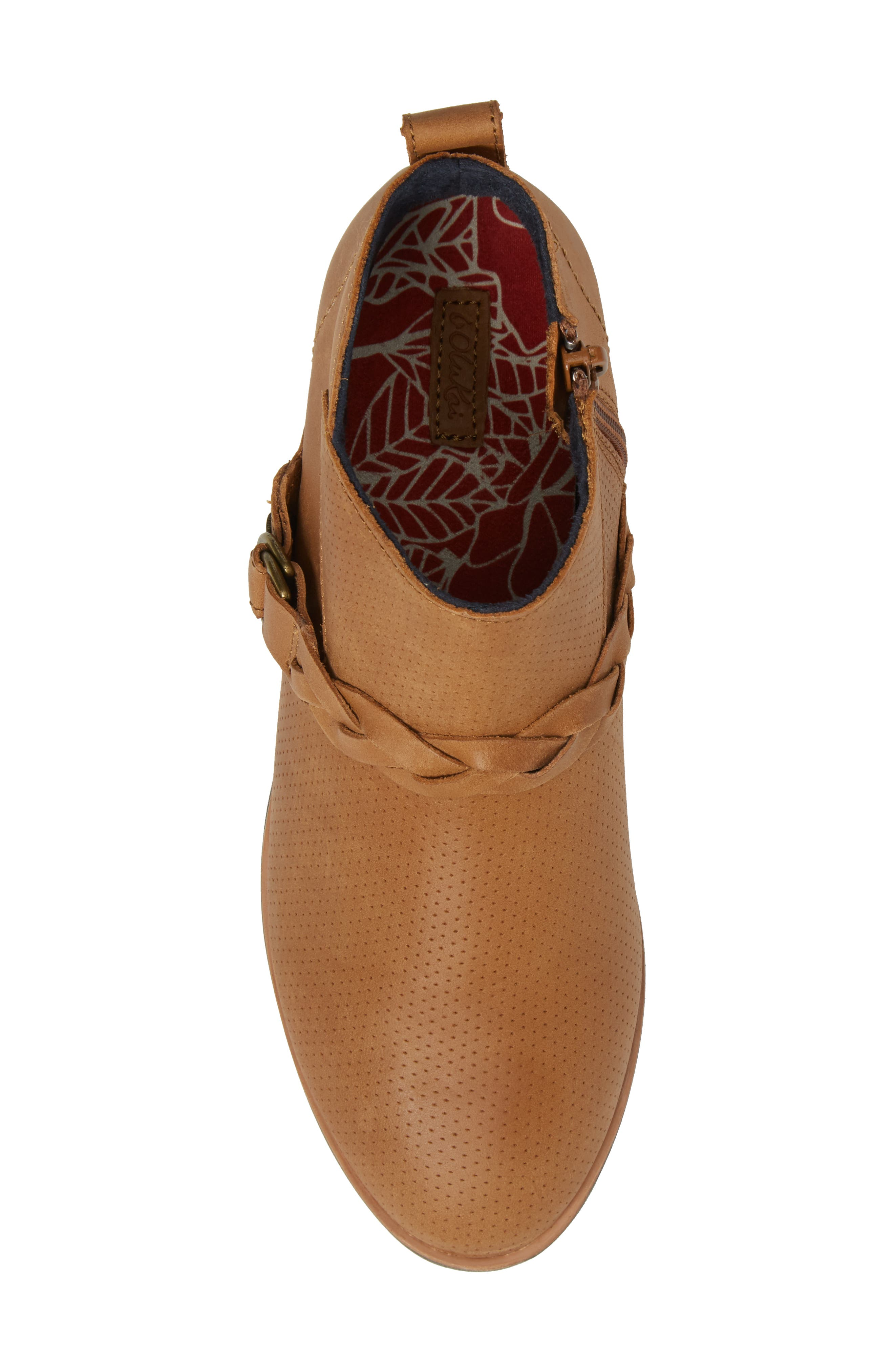 Ho'olu Perforated Bootie,                             Alternate thumbnail 5, color,                             Pecan/ Pecan Leather