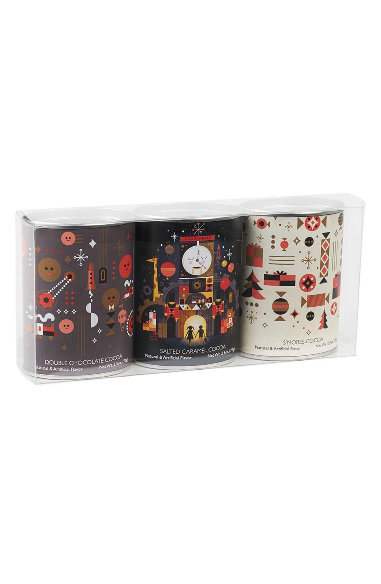 Dylan's Candy Bar x FAO Schwarz 3-Pack Assortment Hot Chocolate Tin Gift Set