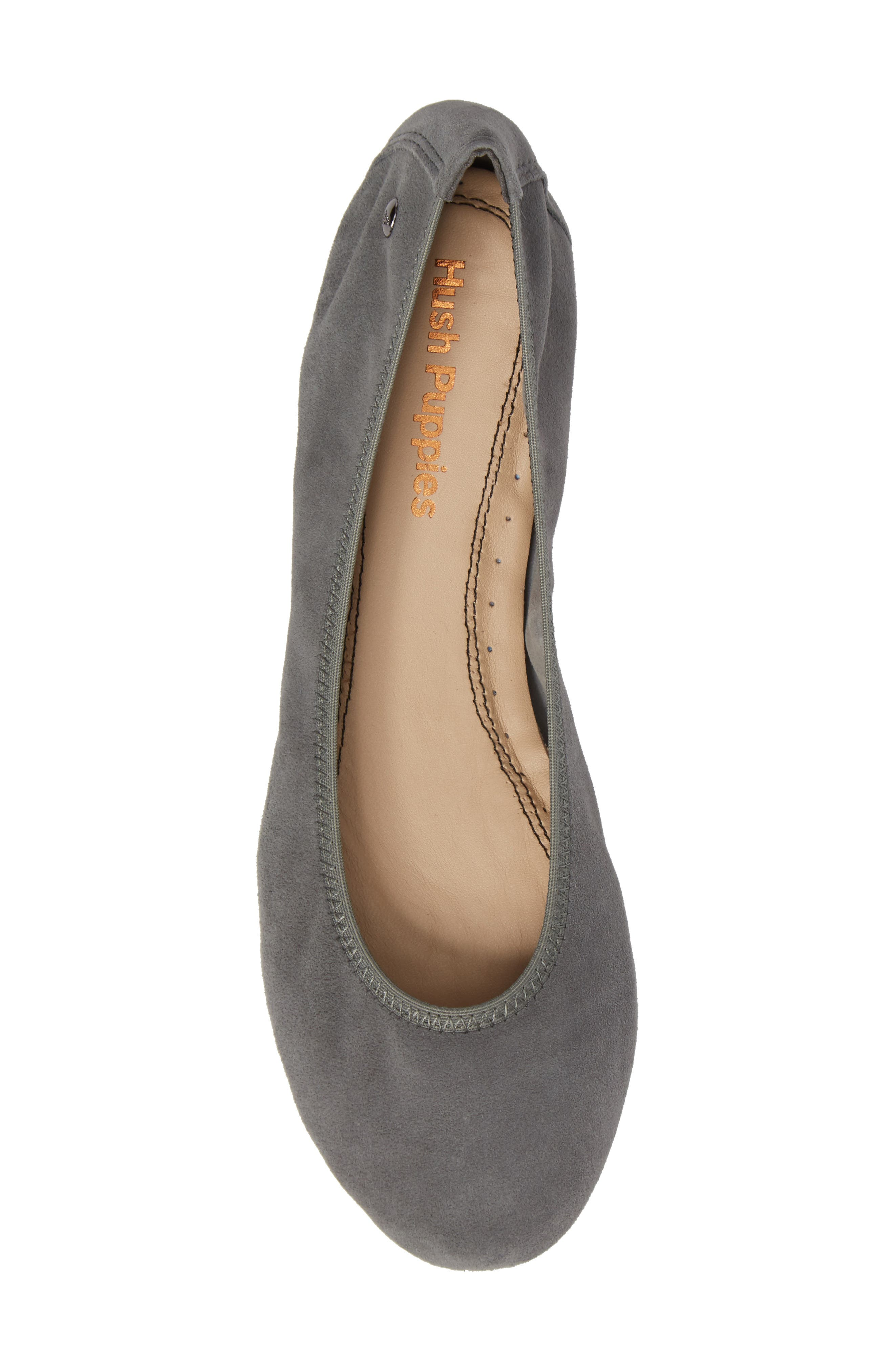 'Chaste' Ballet Flat,                             Alternate thumbnail 5, color,                             Dusty Green Suede