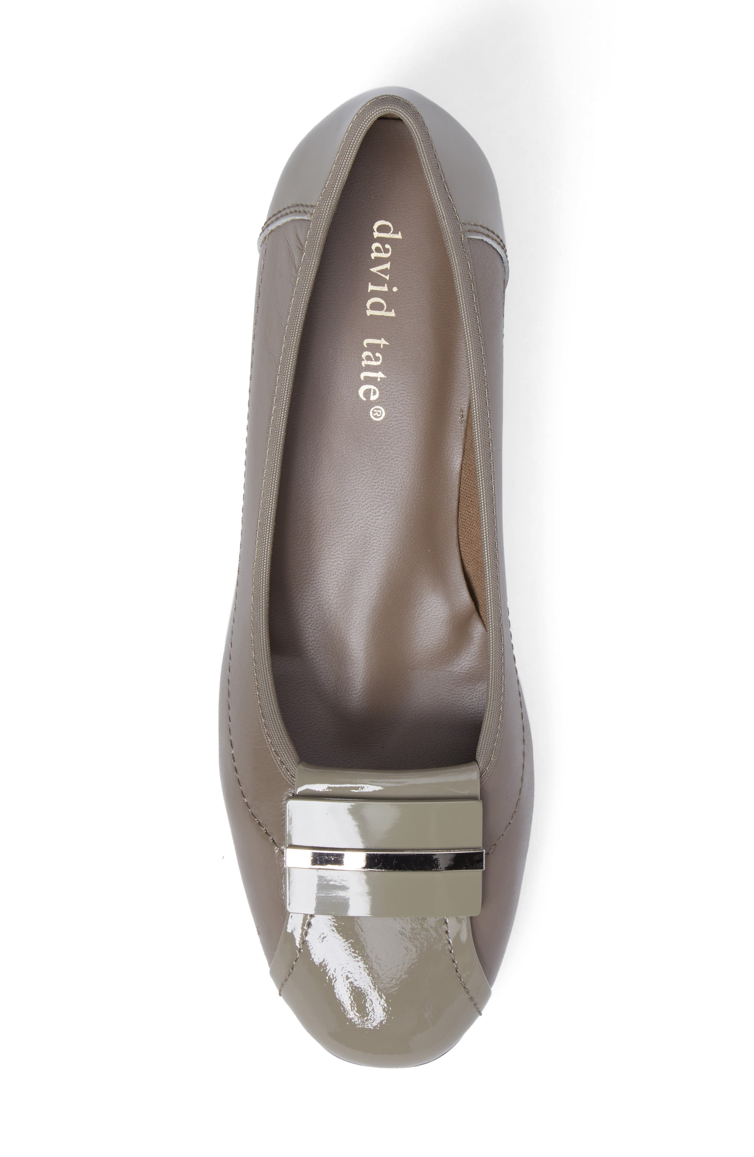Ideal Pump,                             Alternate thumbnail 5, color,                             Taupe Patent Leather