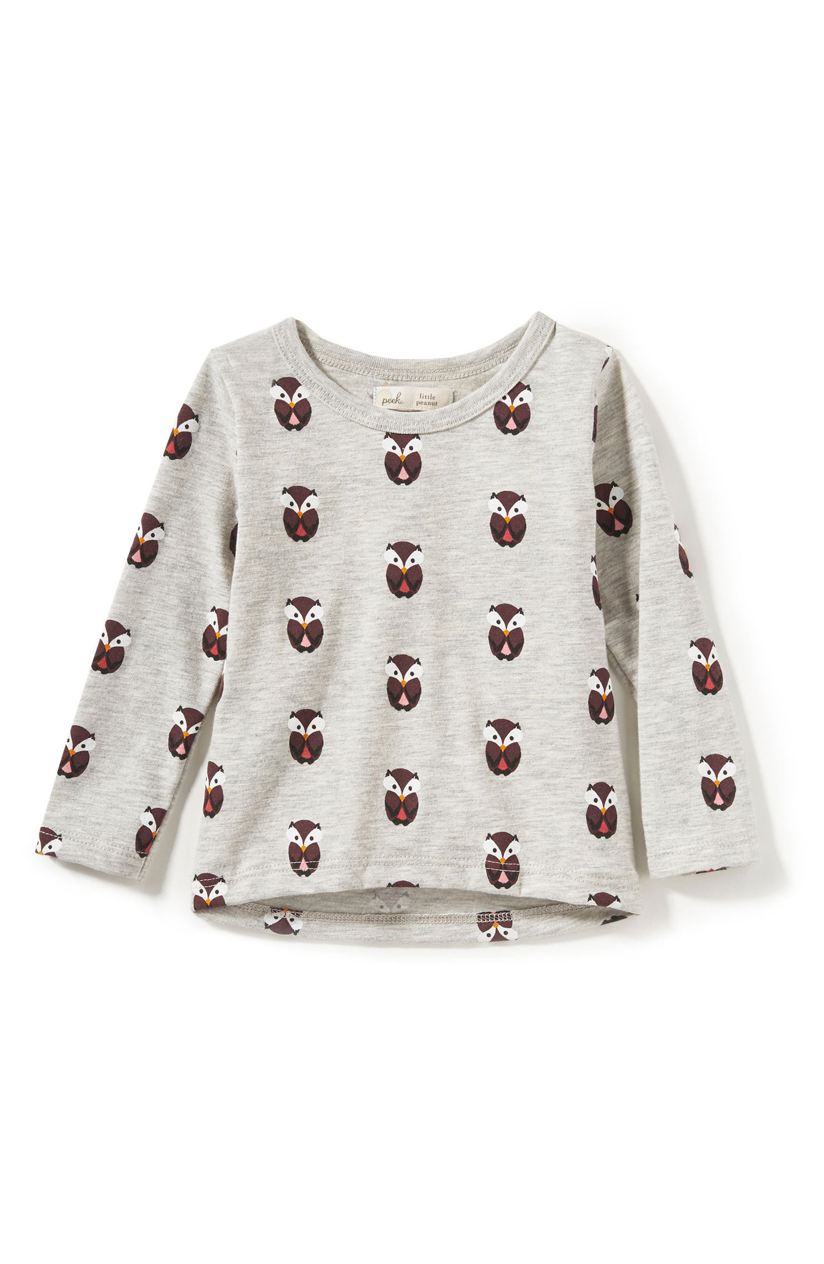 Peek Owl Graphic Tee (Baby Girls)