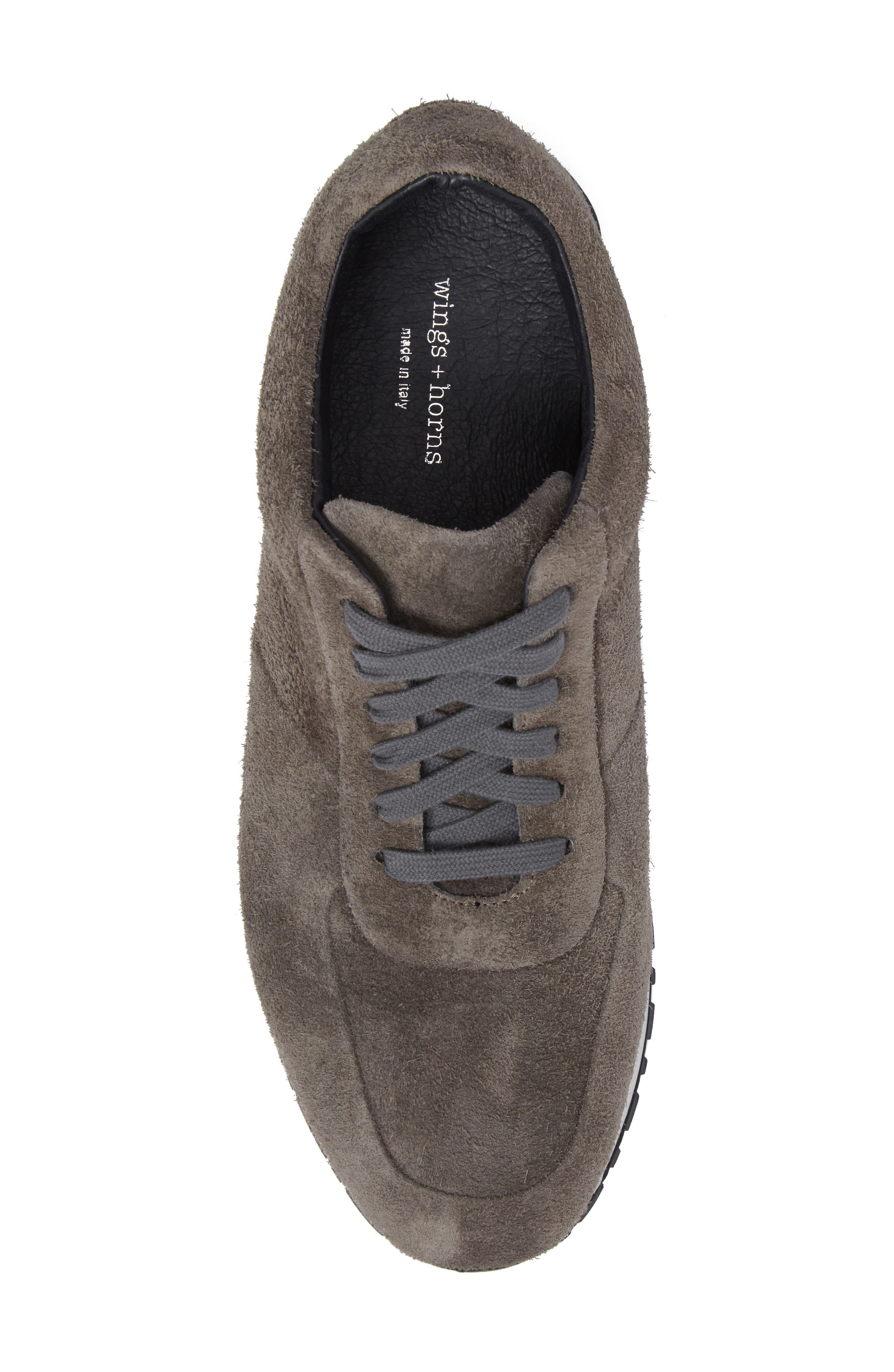 Hairy Sneaker,                             Alternate thumbnail 5, color,                             Grey Suede