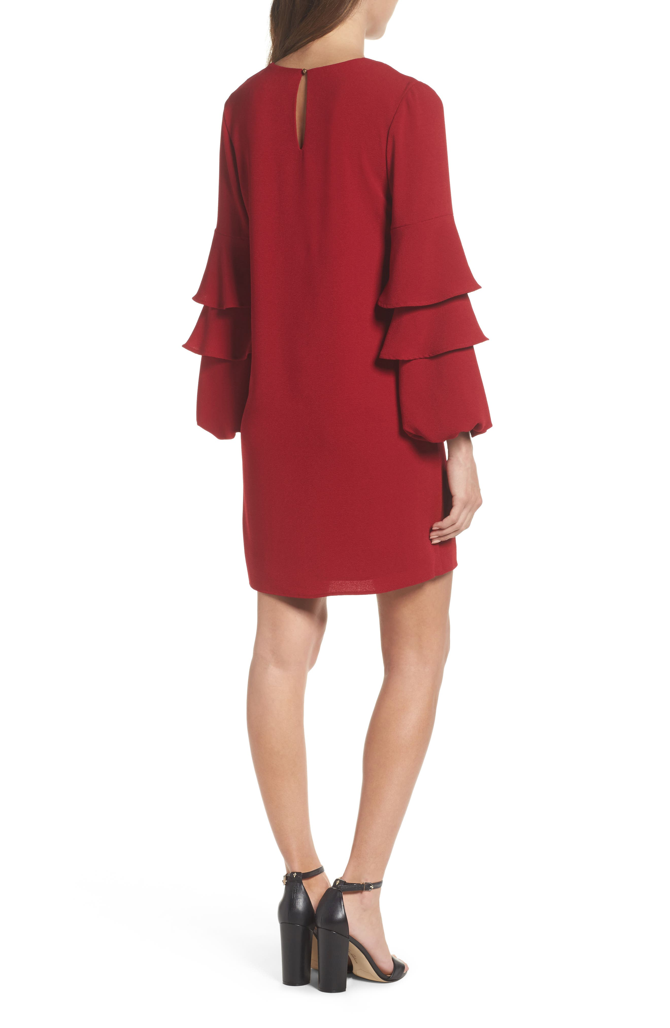 Alternate Image 2  - Charles Henry Tiered Ruffle Sleeve Dress (Regular & Petite)