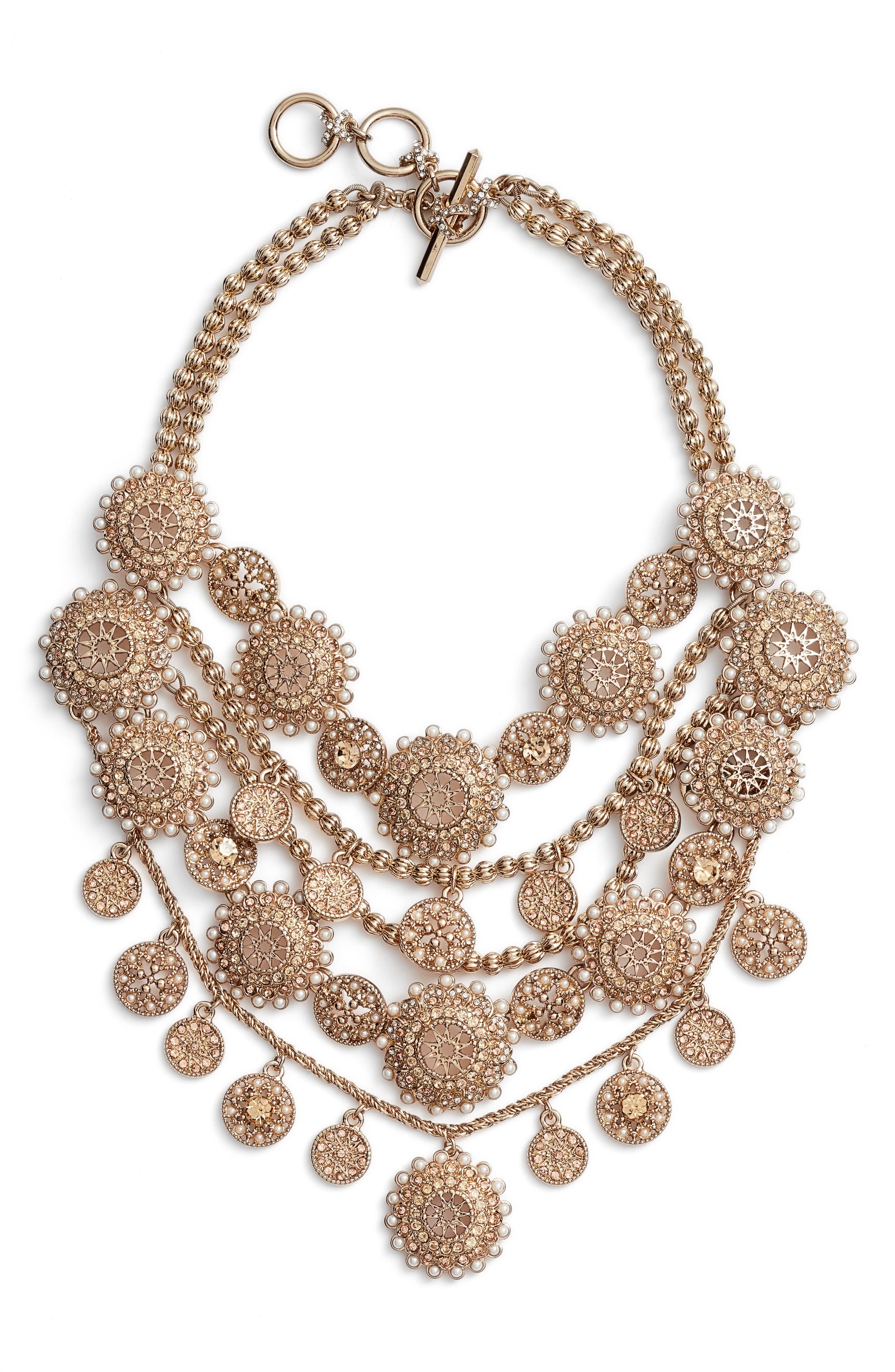 Marchesa Multirow Collar Necklace