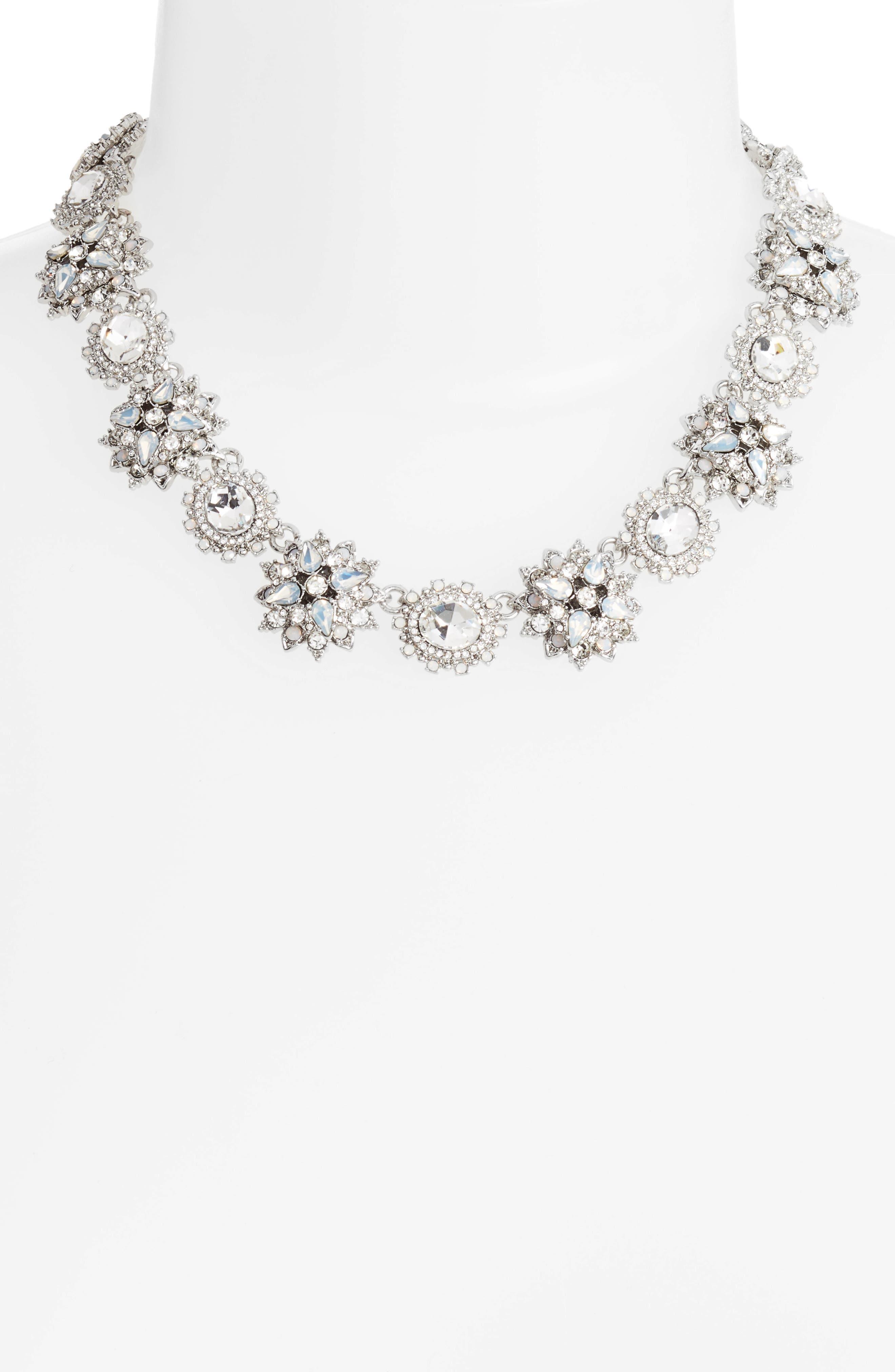 Alternate Image 2  - Marchesa Crystal Collar Necklace