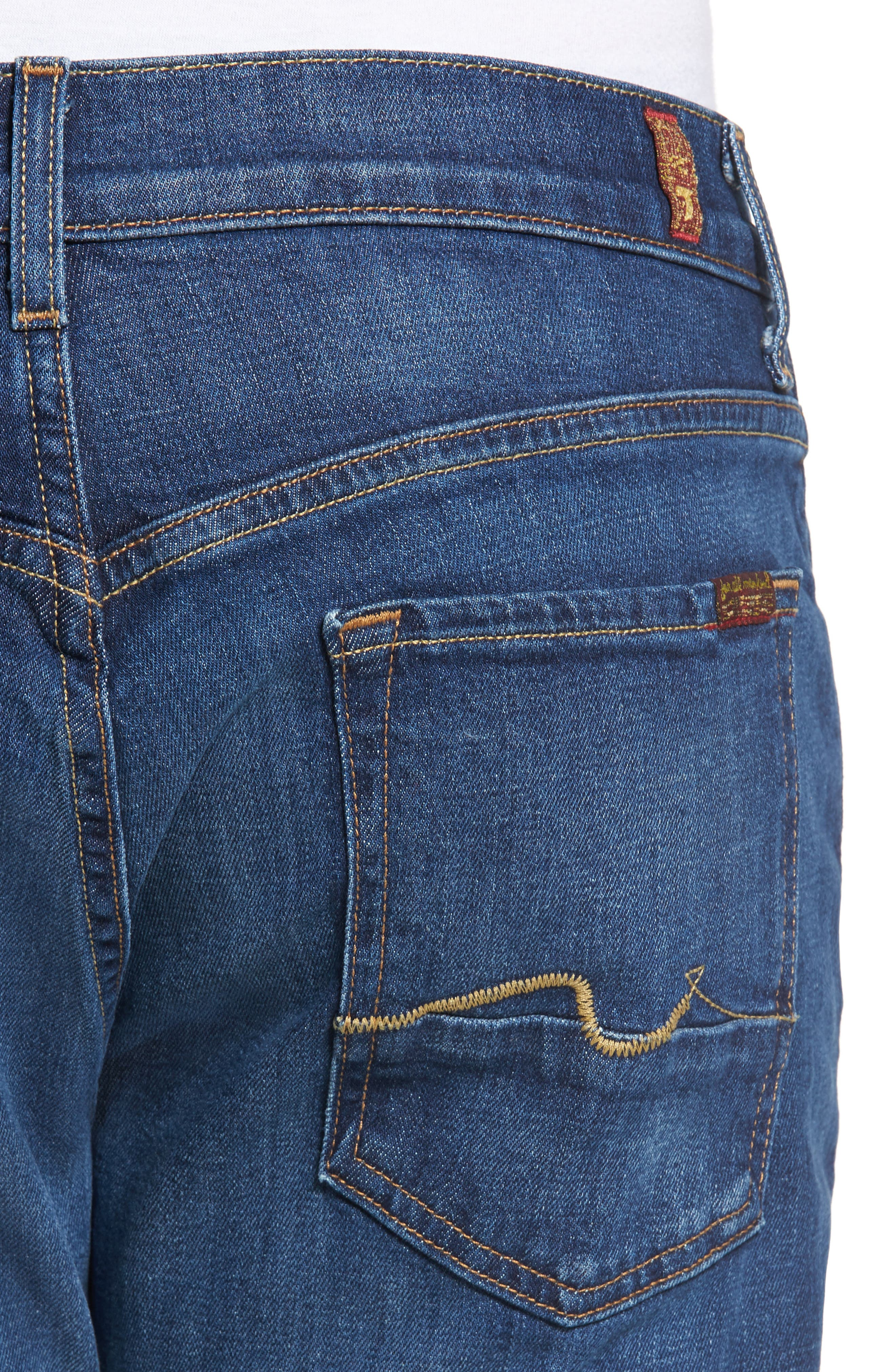 Alternate Image 4  - 7 For All Mankind® The Straight Slim Straight Leg Jeans (Dimension)
