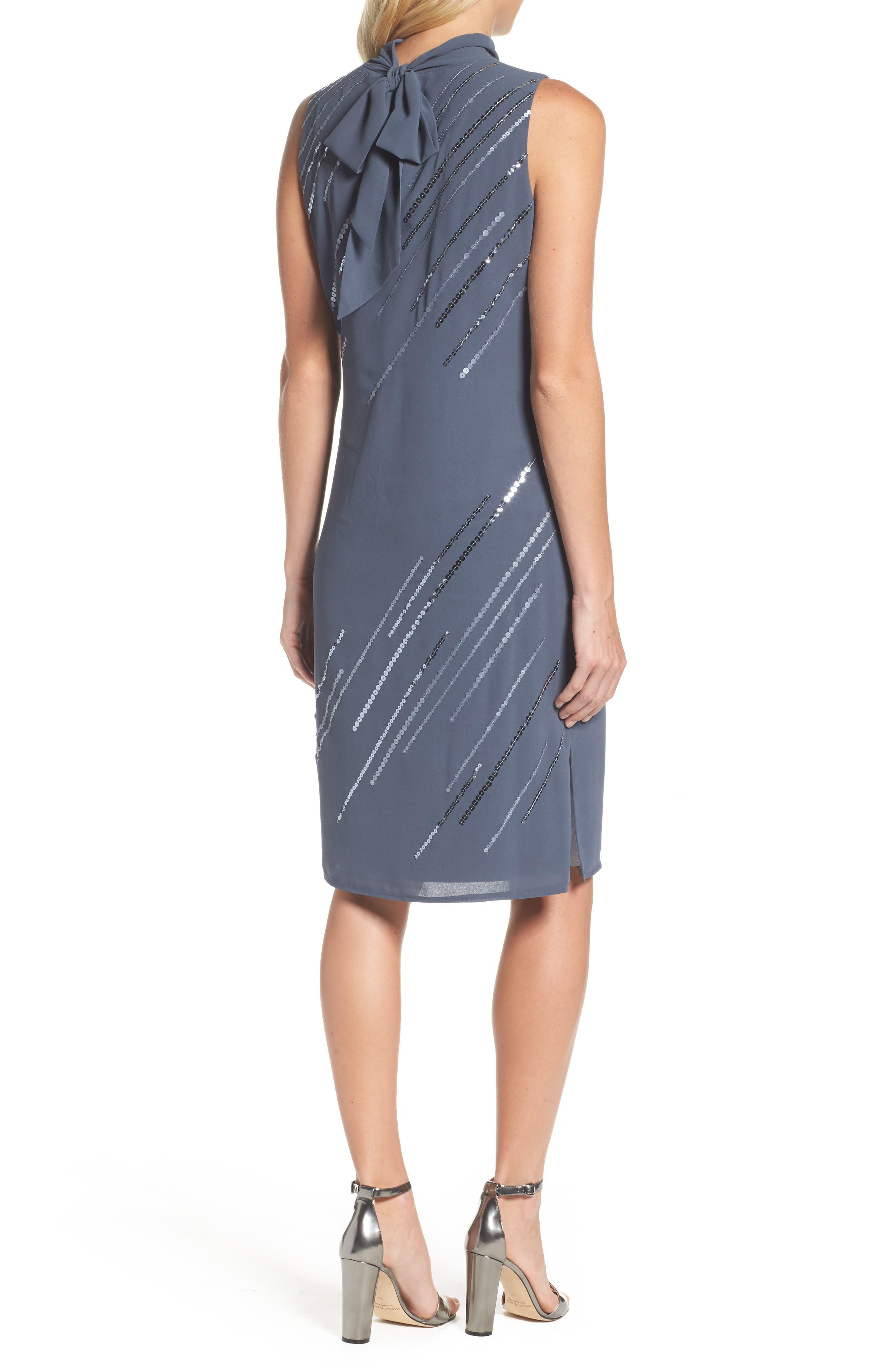 Sequin A-Line Dress,                             Alternate thumbnail 2, color,                             Typhoon