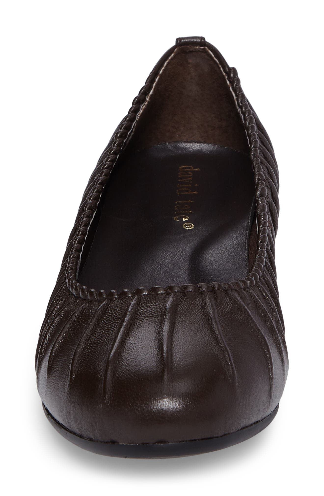 Santo Flat,                             Alternate thumbnail 4, color,                             Brown Leather