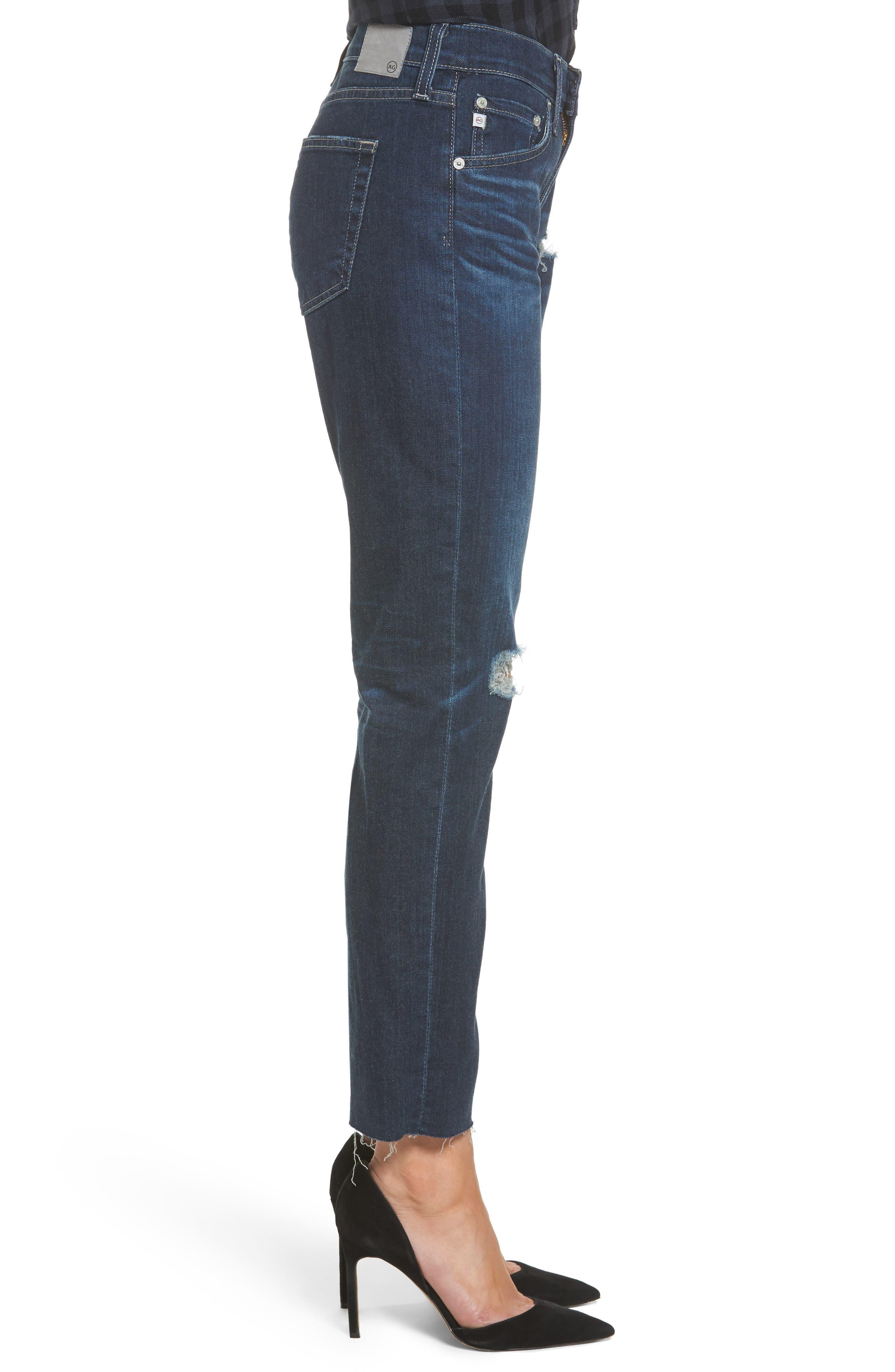 The Ex Boyfriend Crop Jeans,                             Alternate thumbnail 3, color,                             7 Years Dark Tide