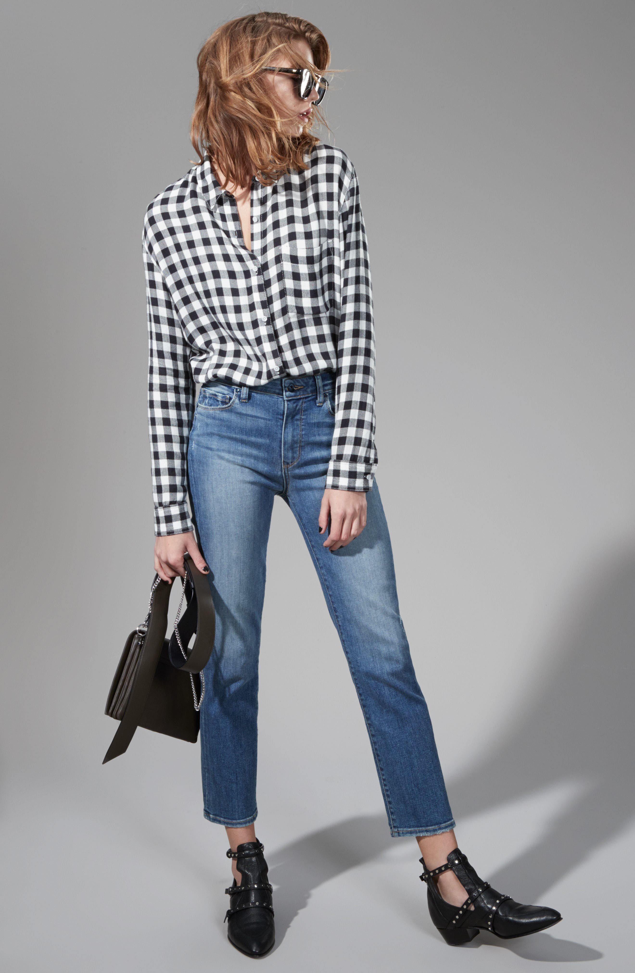 Treasure & Bond Shirt & PAIGE Jeans Outfit with Accessories