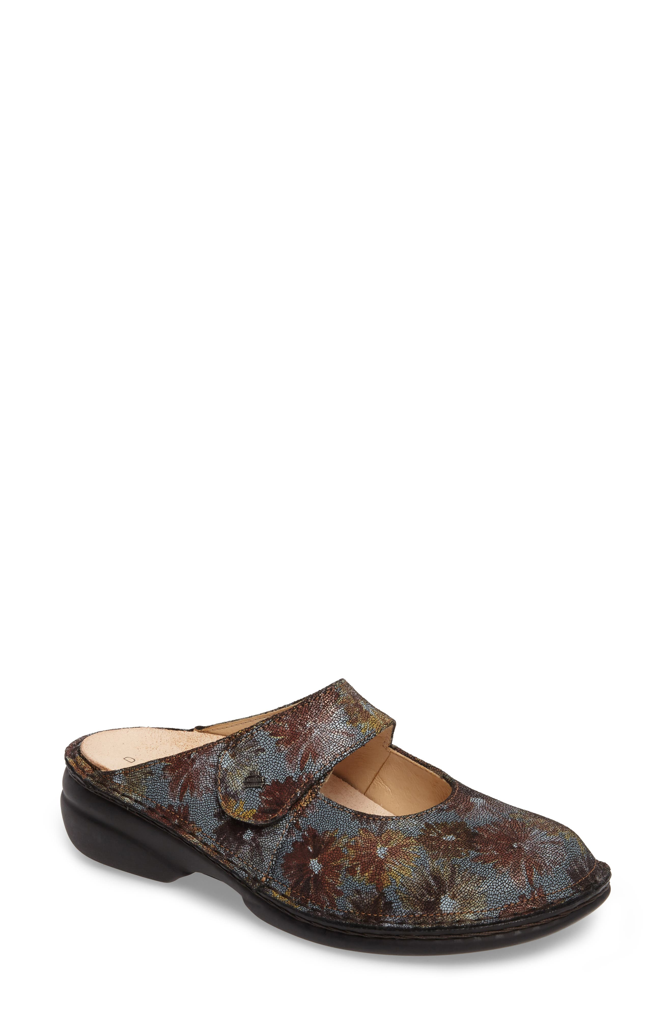 'Stanford' Clog,                             Main thumbnail 1, color,                             Brown Leather