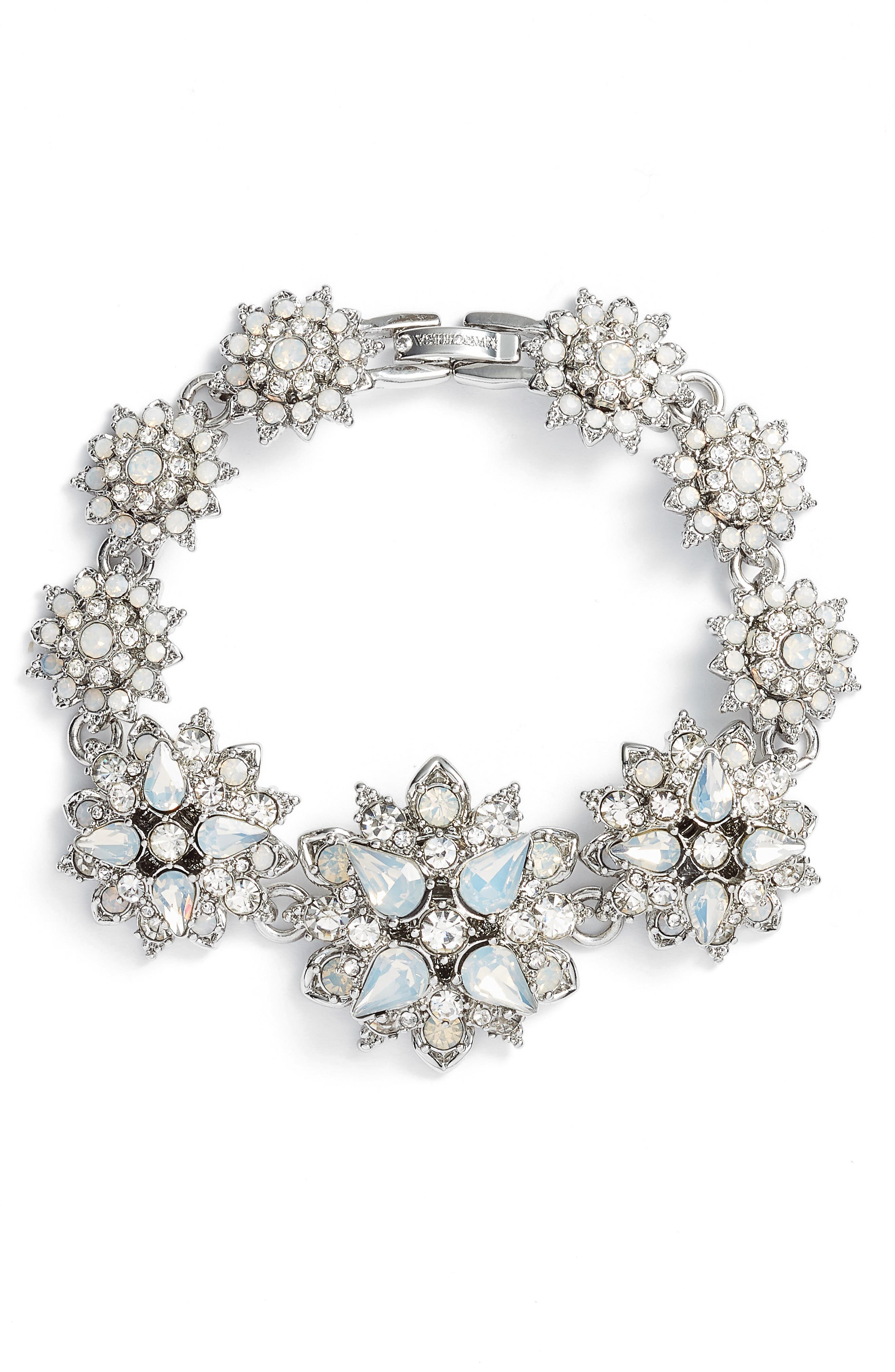 Crystal Bracelet,                         Main,                         color, Rhodium/ White Multi
