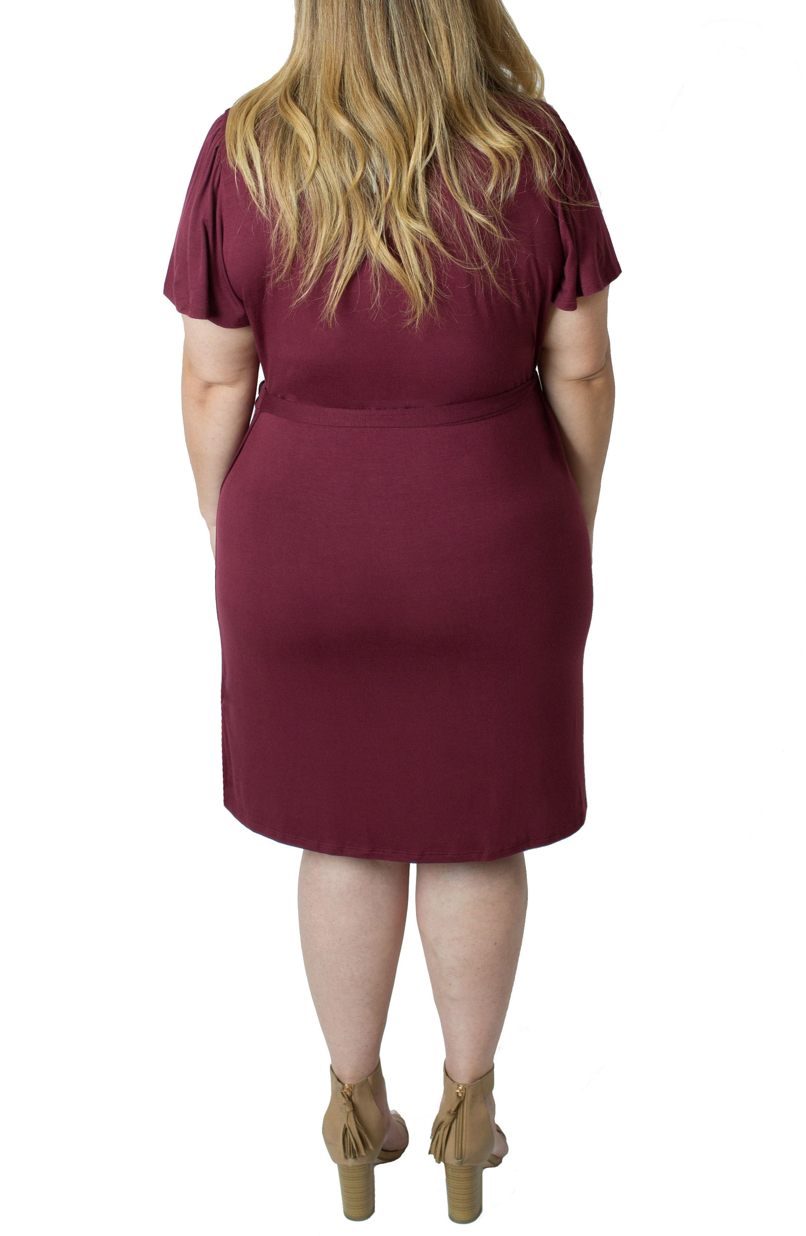 Wrap Nursing Dress,                             Alternate thumbnail 2, color,                             Red