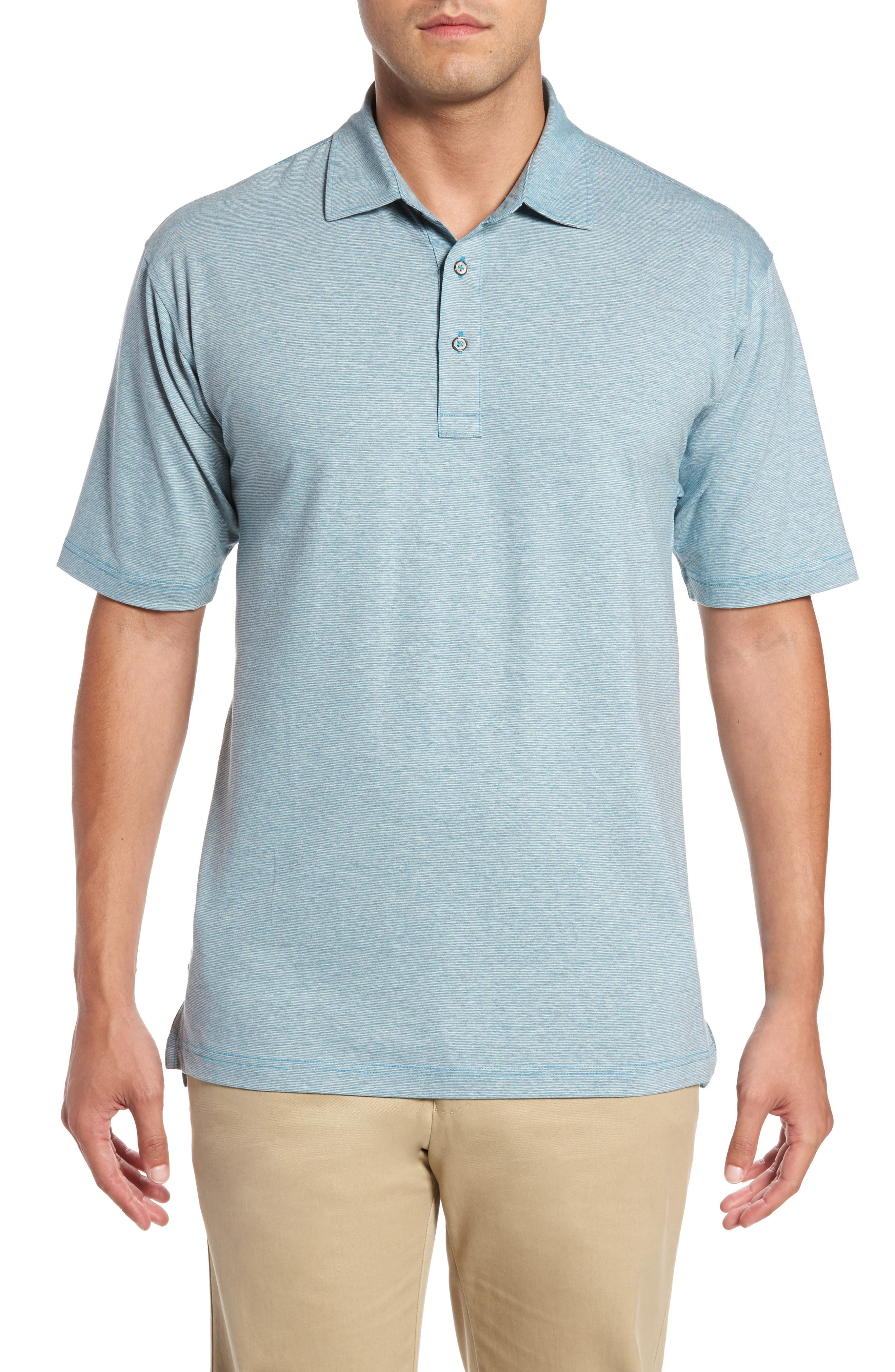 Bobby Jones Riverside Heather Stripe Polo
