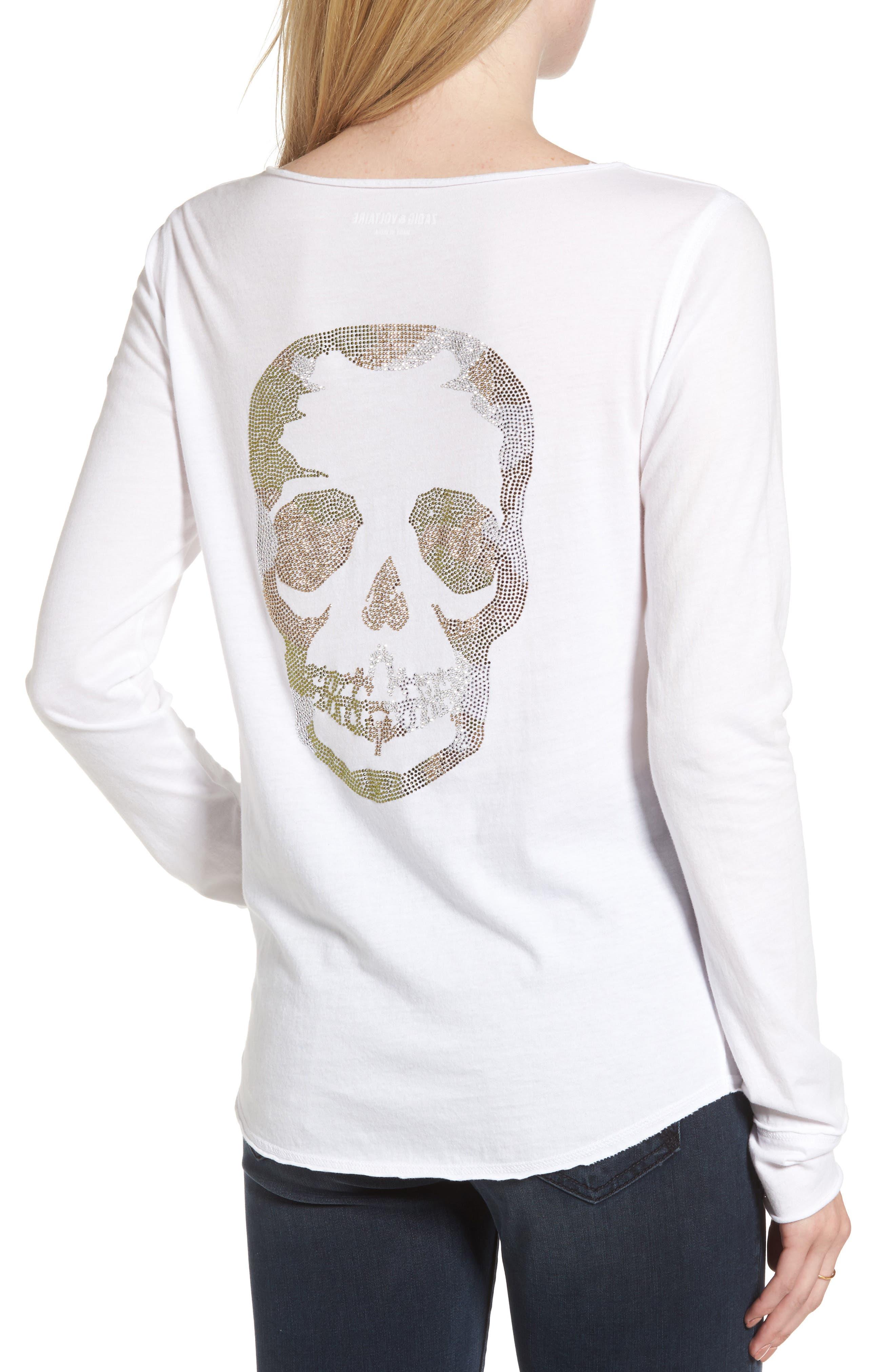 Alternate Image 2  - Zadig & Voltaire Tunisien Strass Skull Henley