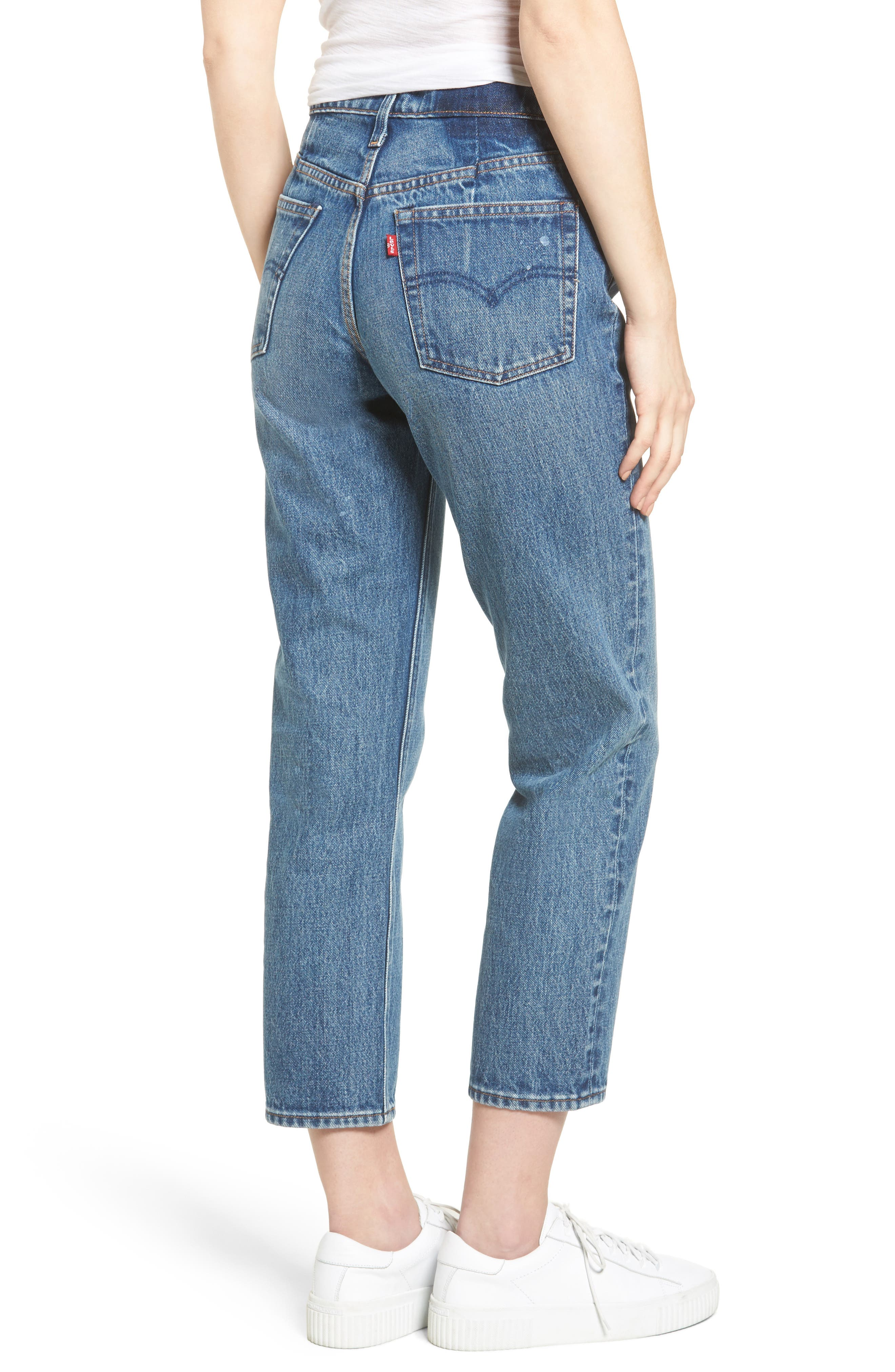 Wedgie Altered Straight Leg Crop Jeans,                             Alternate thumbnail 2, color,                             No Limits