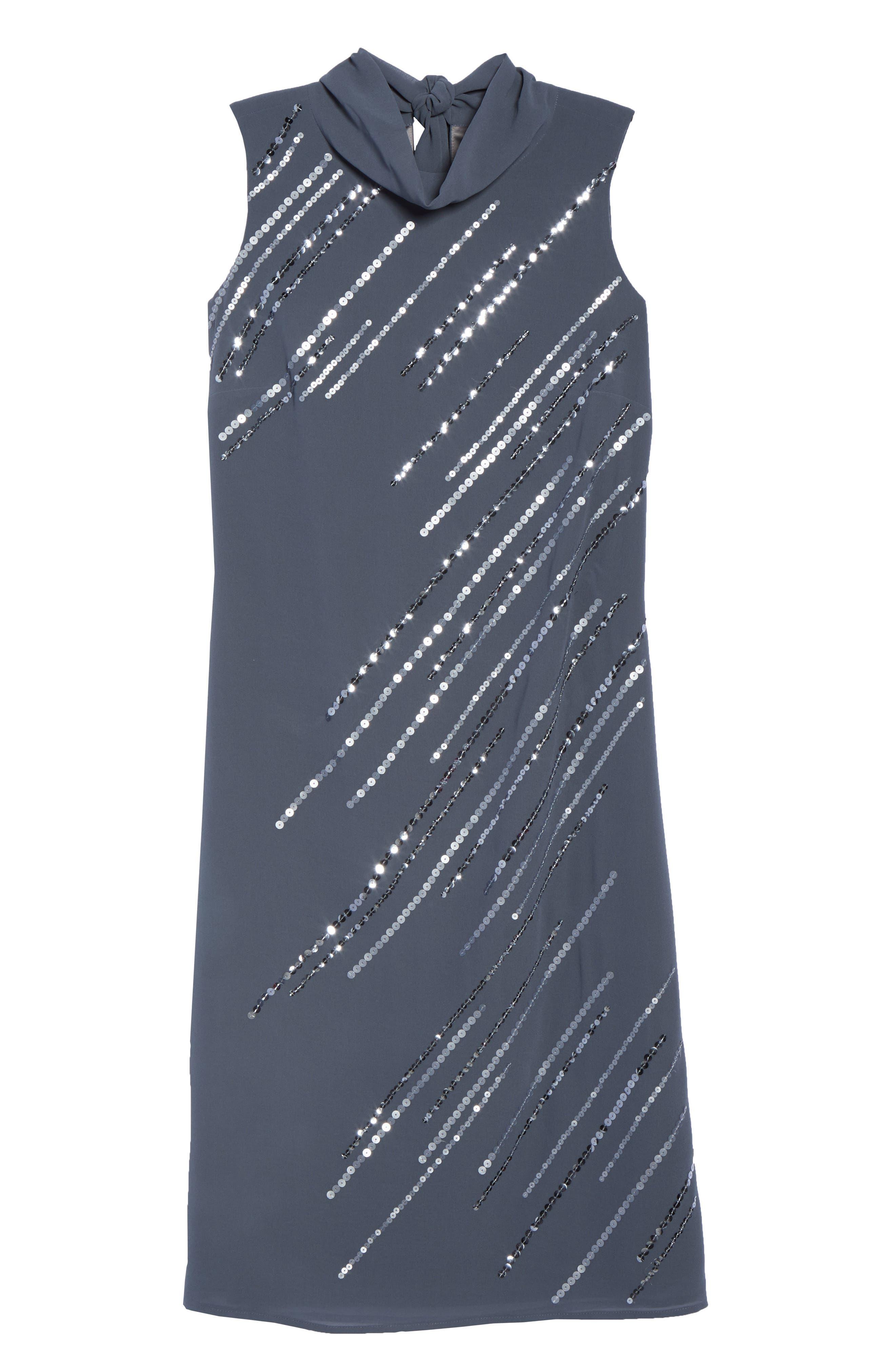Sequin A-Line Dress,                             Alternate thumbnail 6, color,                             Typhoon