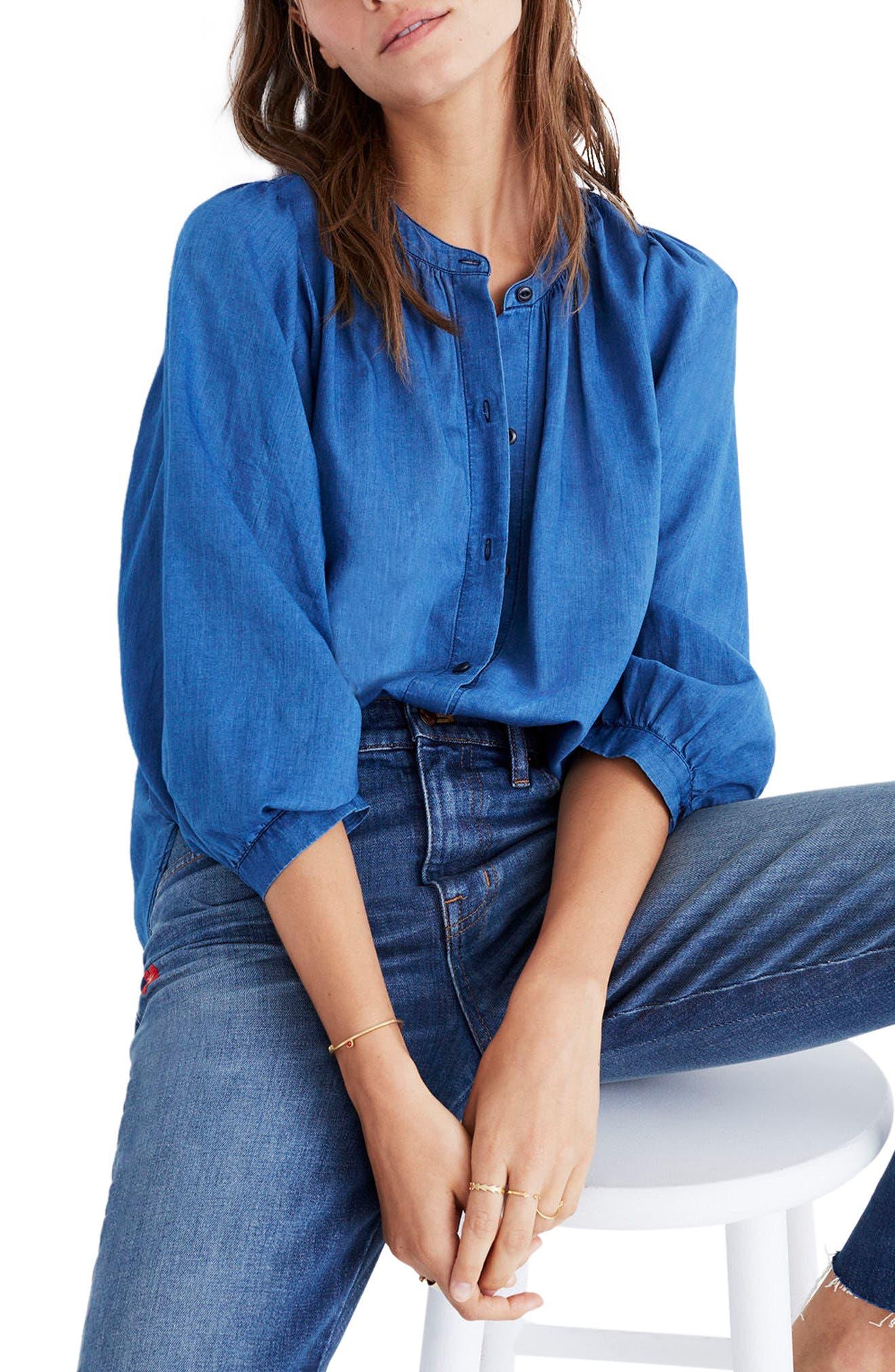 Madewell Indigo Gauze Shirt