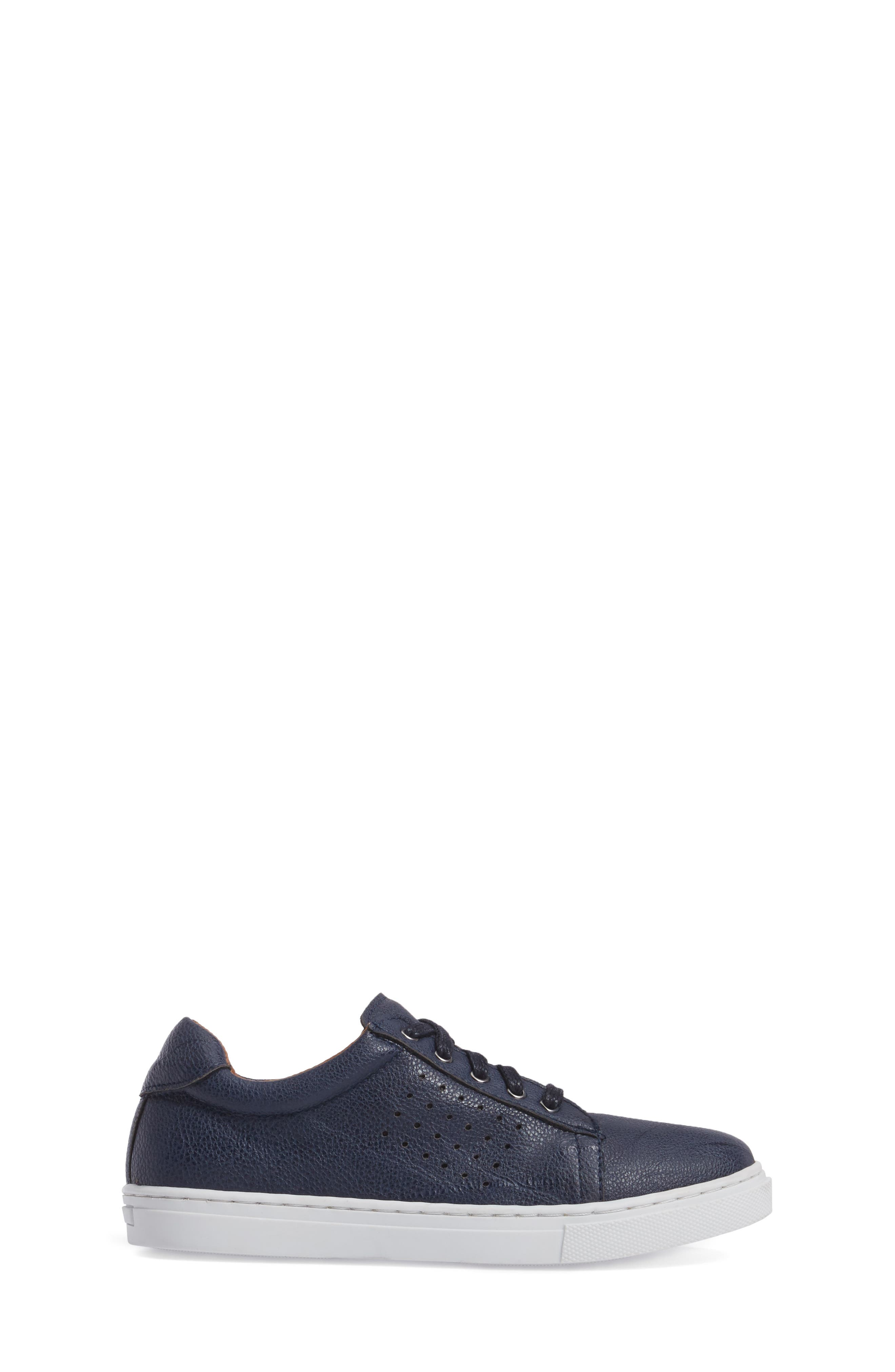 Grafte Perforated Sneaker,                             Alternate thumbnail 3, color,                             Navy