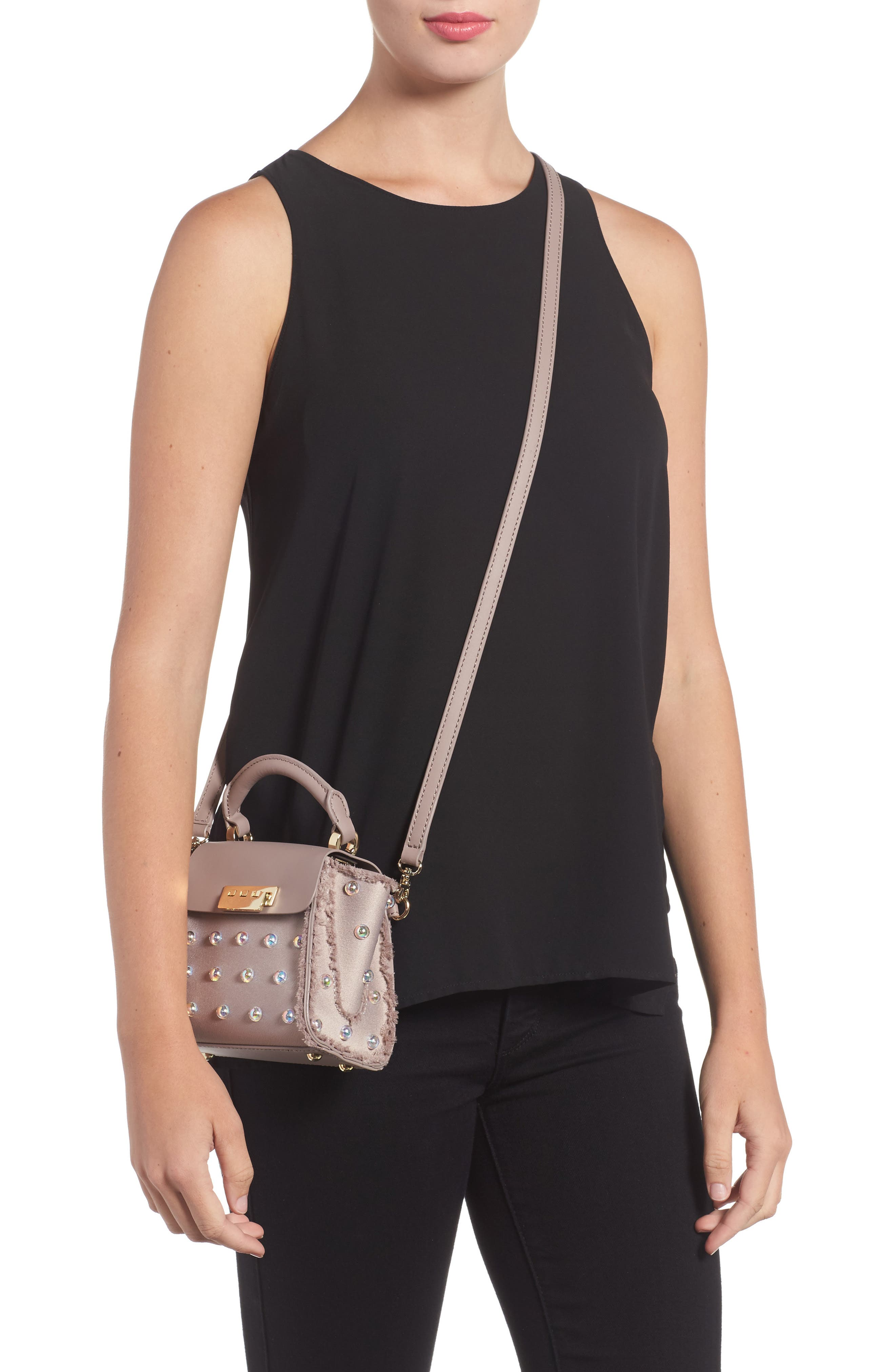 Alternate Image 2  - ZAC Zac Posen Mini Eartha Embellished Top Handle Calfskin Leather Satchel